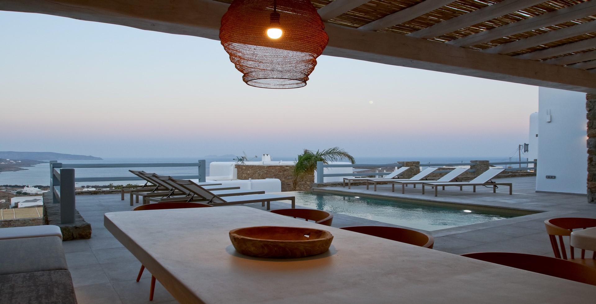 villa ilios kalafatis views