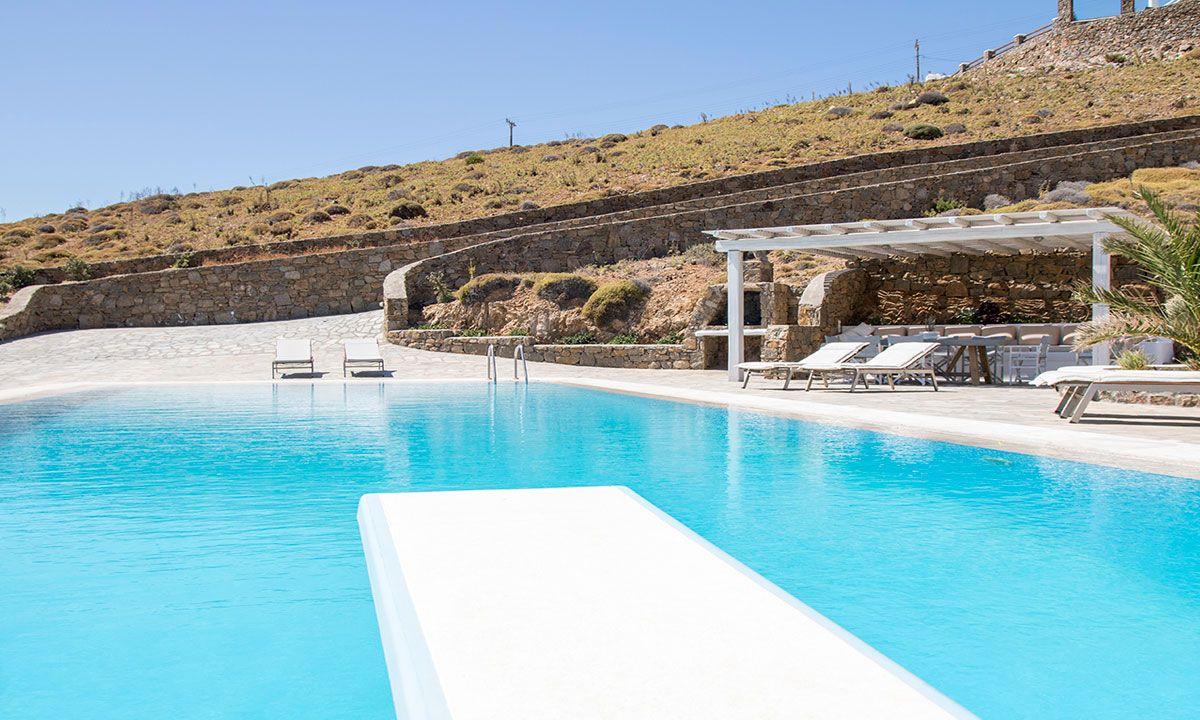 mykonos villas 6 bedroom private pool