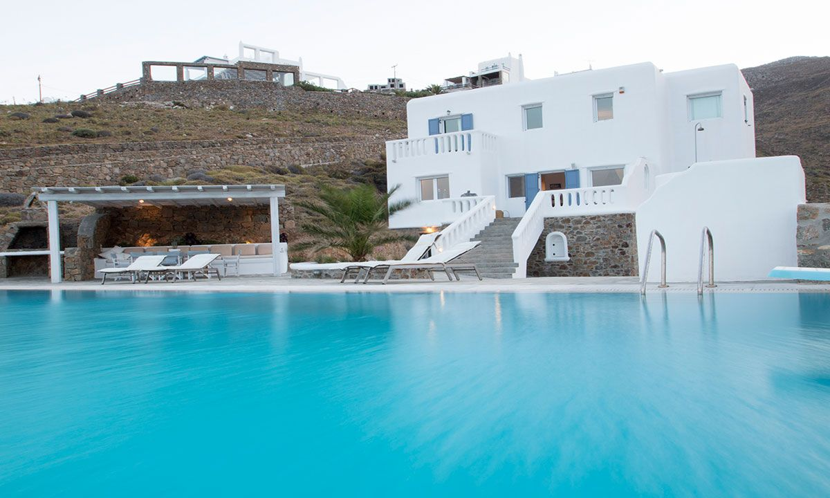 mykonos villas 6 bedroom private pool