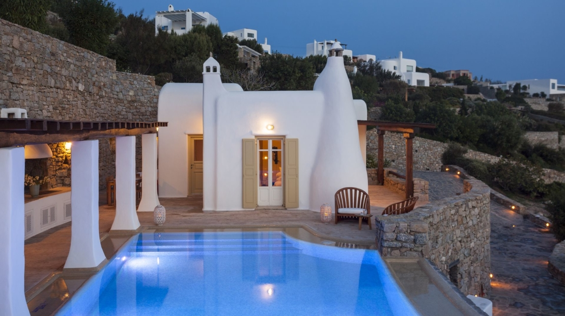 mykonos 3 bedroom villas private pool