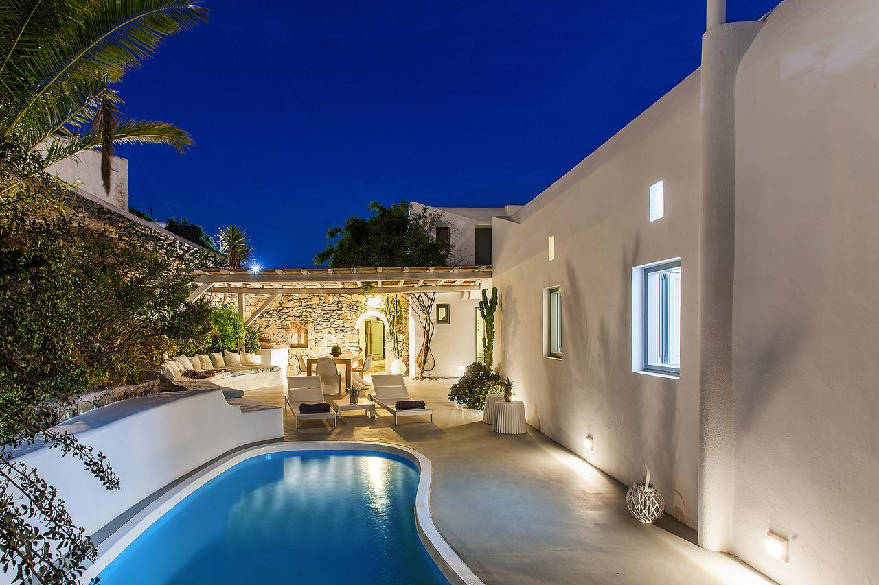 mykonos town villa private pool