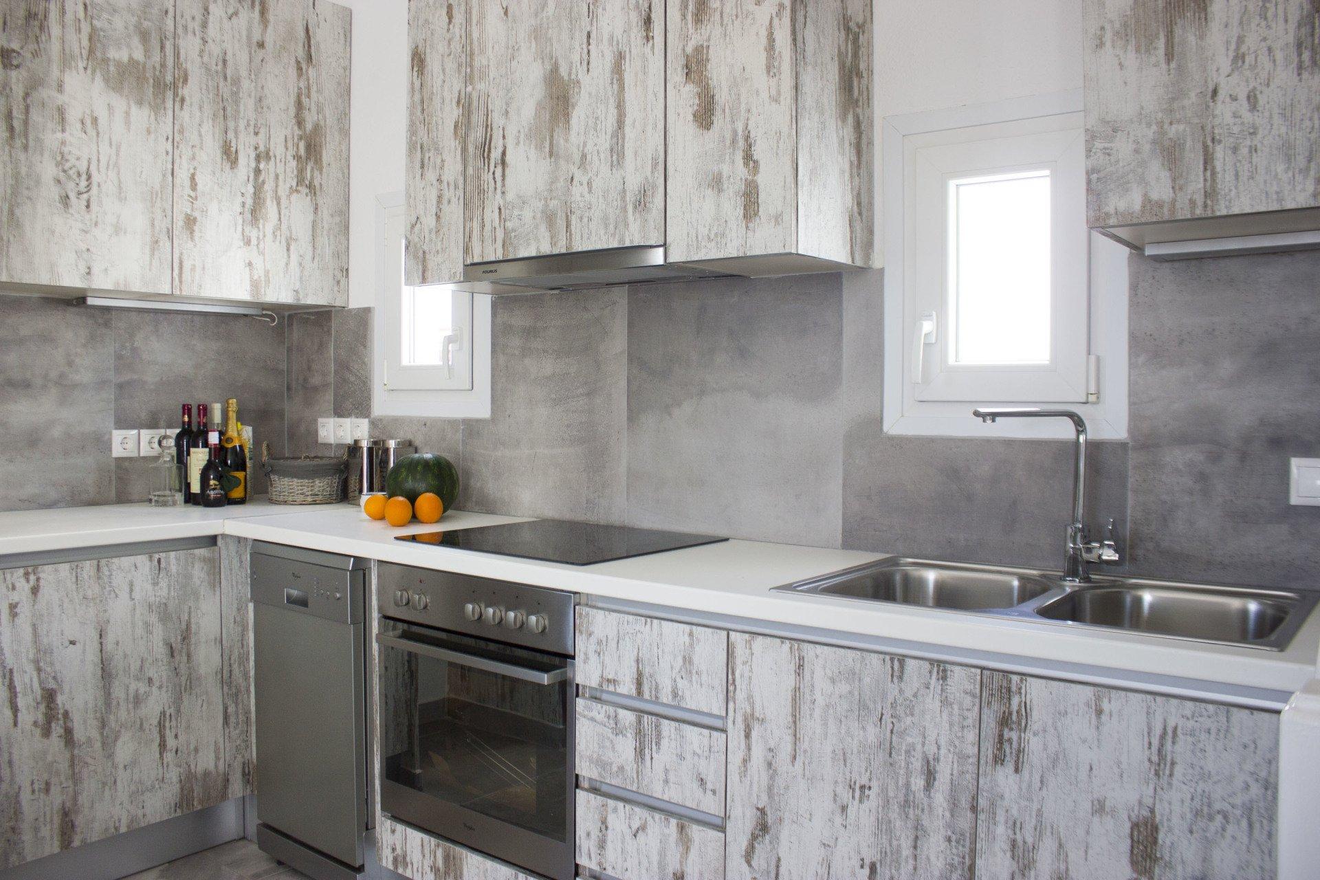 villa thallasi ornos bay kitchen