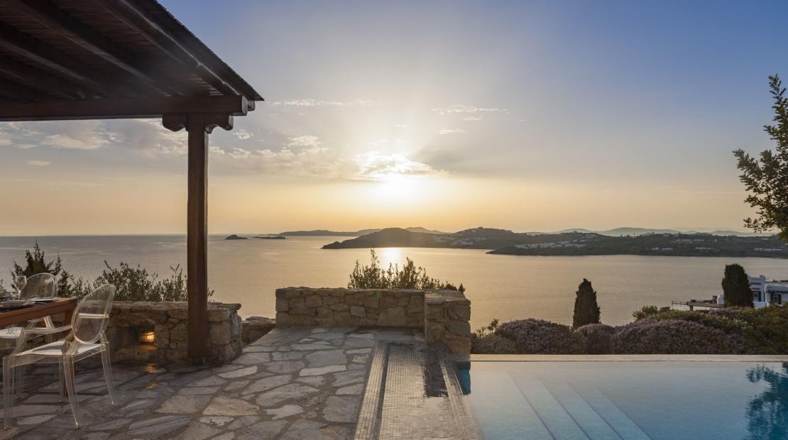 mykonos villas sea views