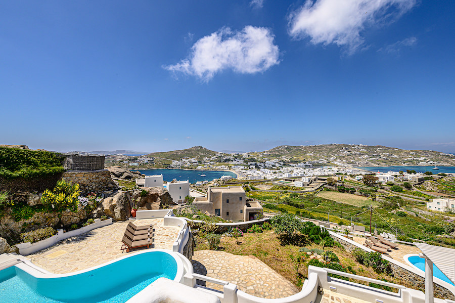 luxury villas ornos beach mykonos