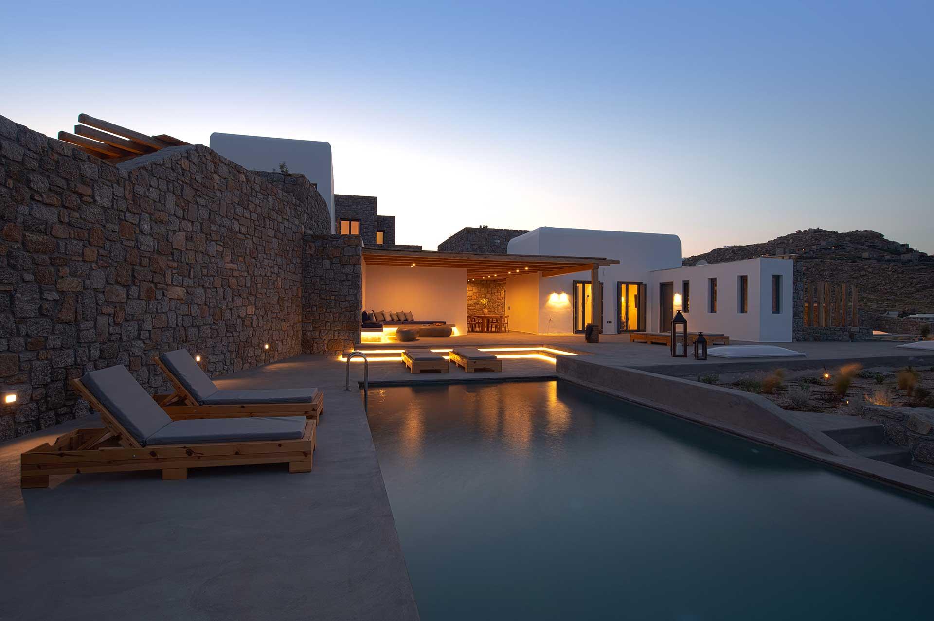 mykonos villas large groups