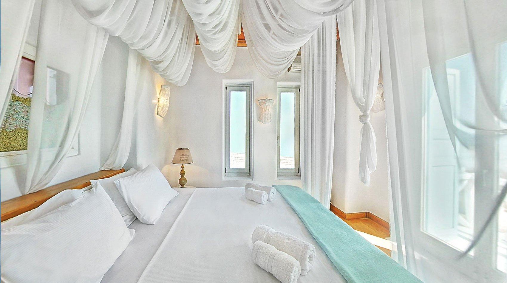 villa kastro mykonos bedroom
