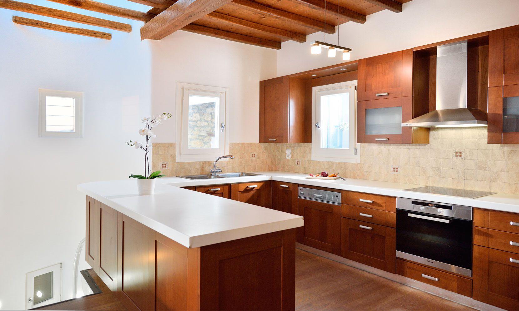 villa casa azul mykonos kitchen
