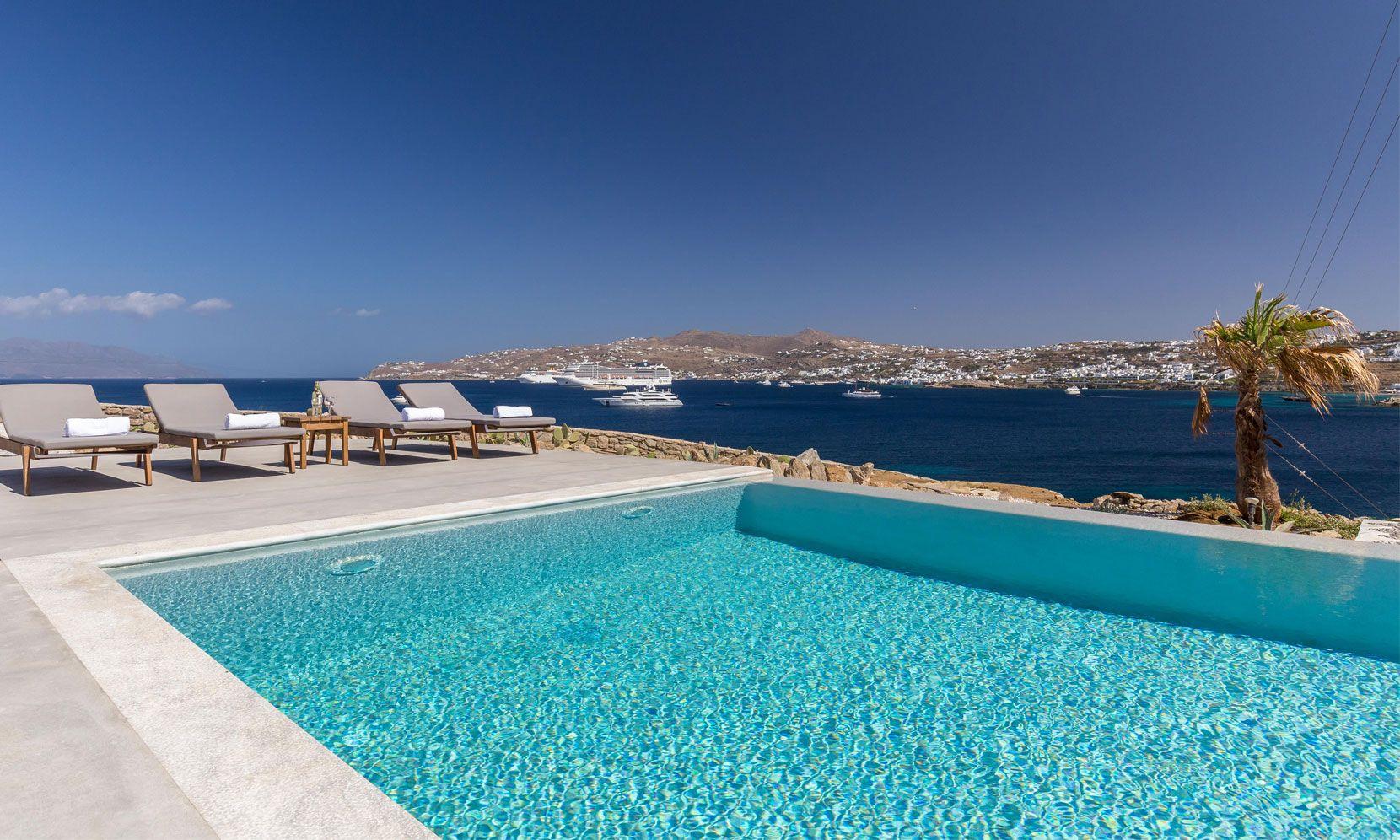 villa alissia mykonos pool