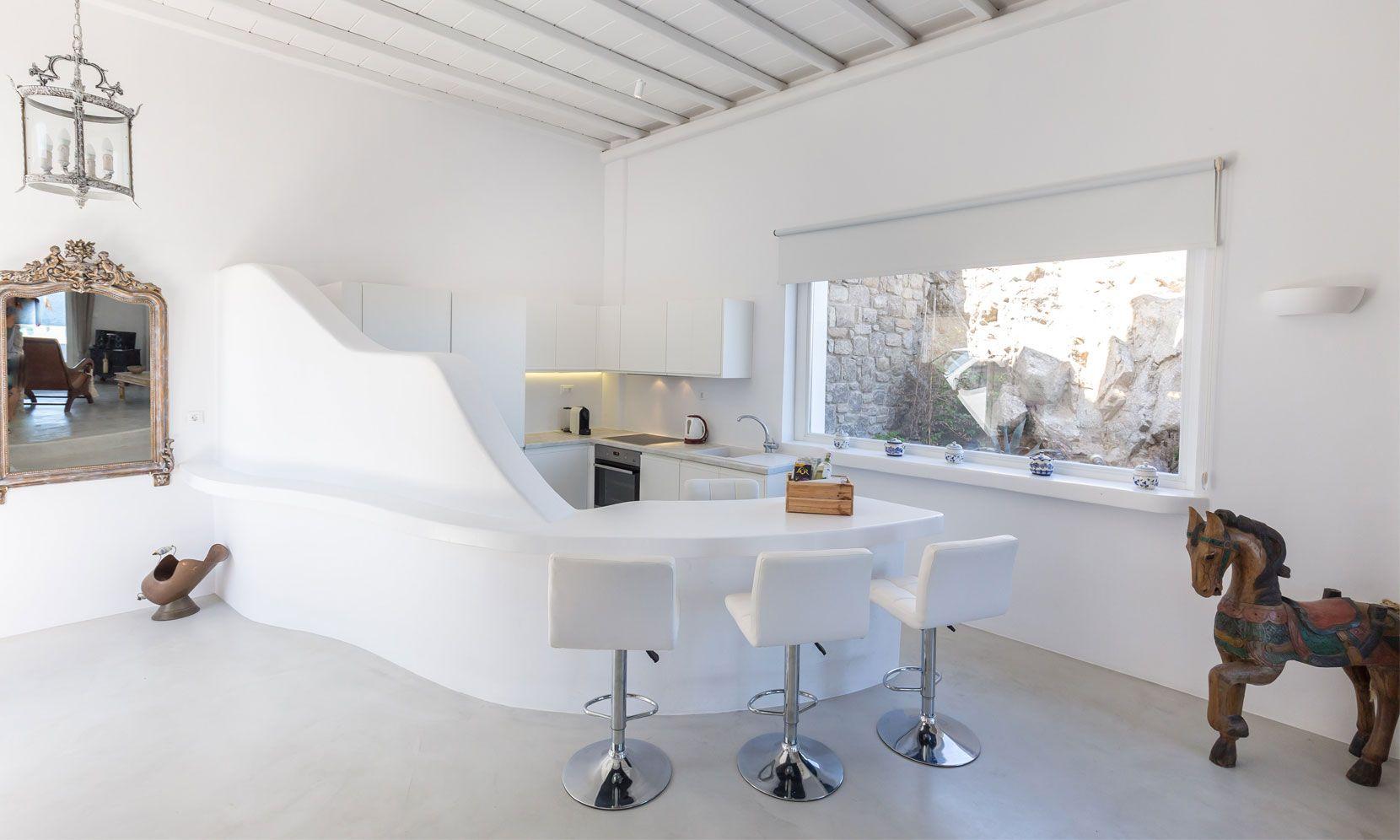 villa alissia mykonos kitchen