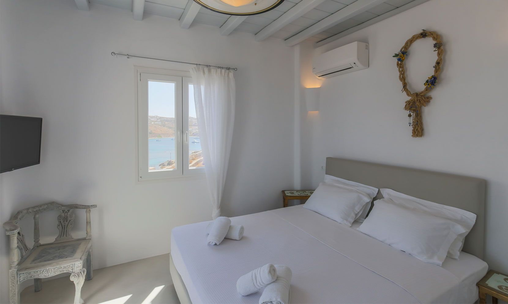 villa alissia mykonos pool bedroom