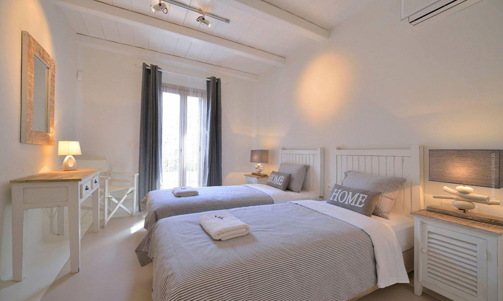 villa lucio mykonos bedroom