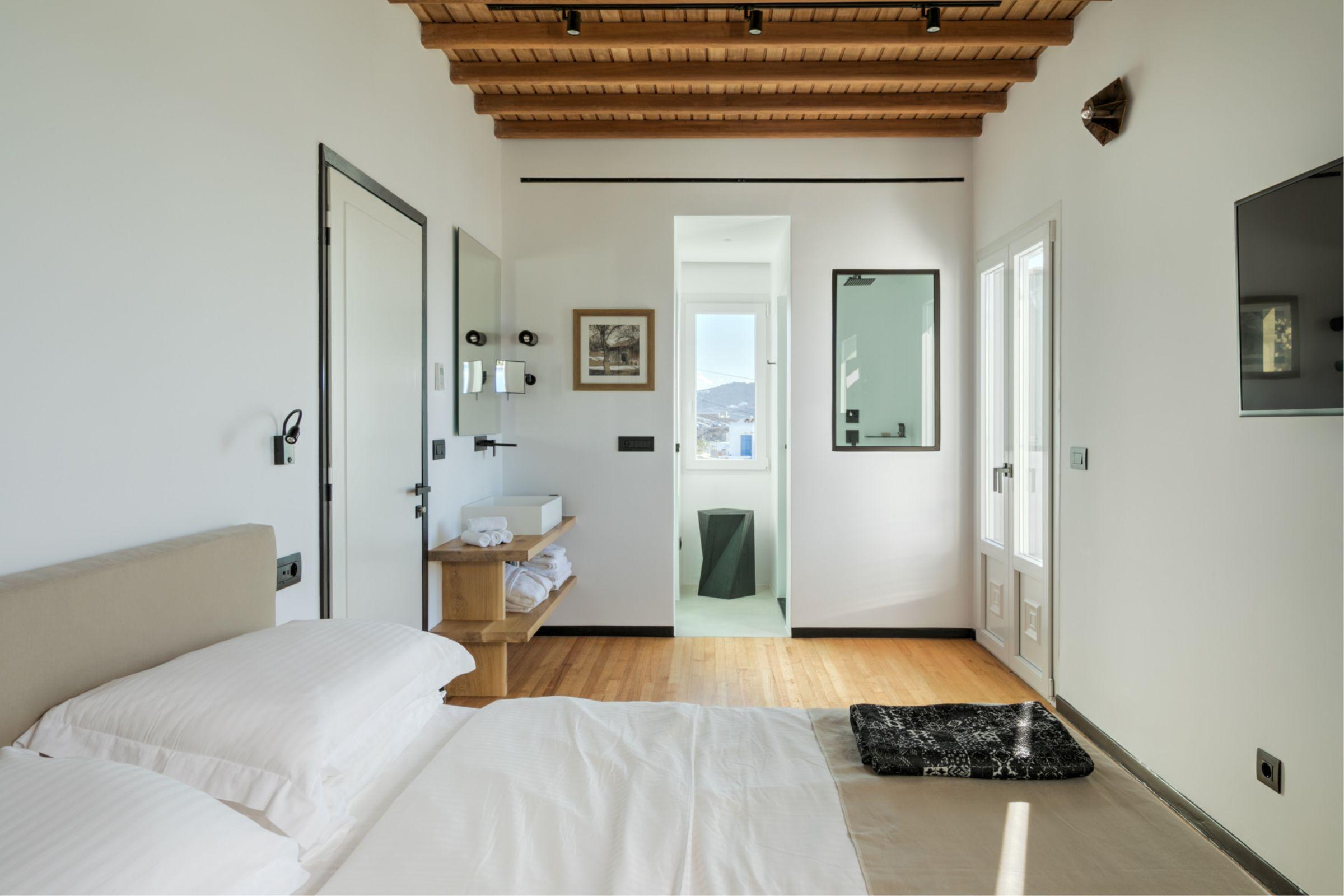 chora villa mykonos bedroom