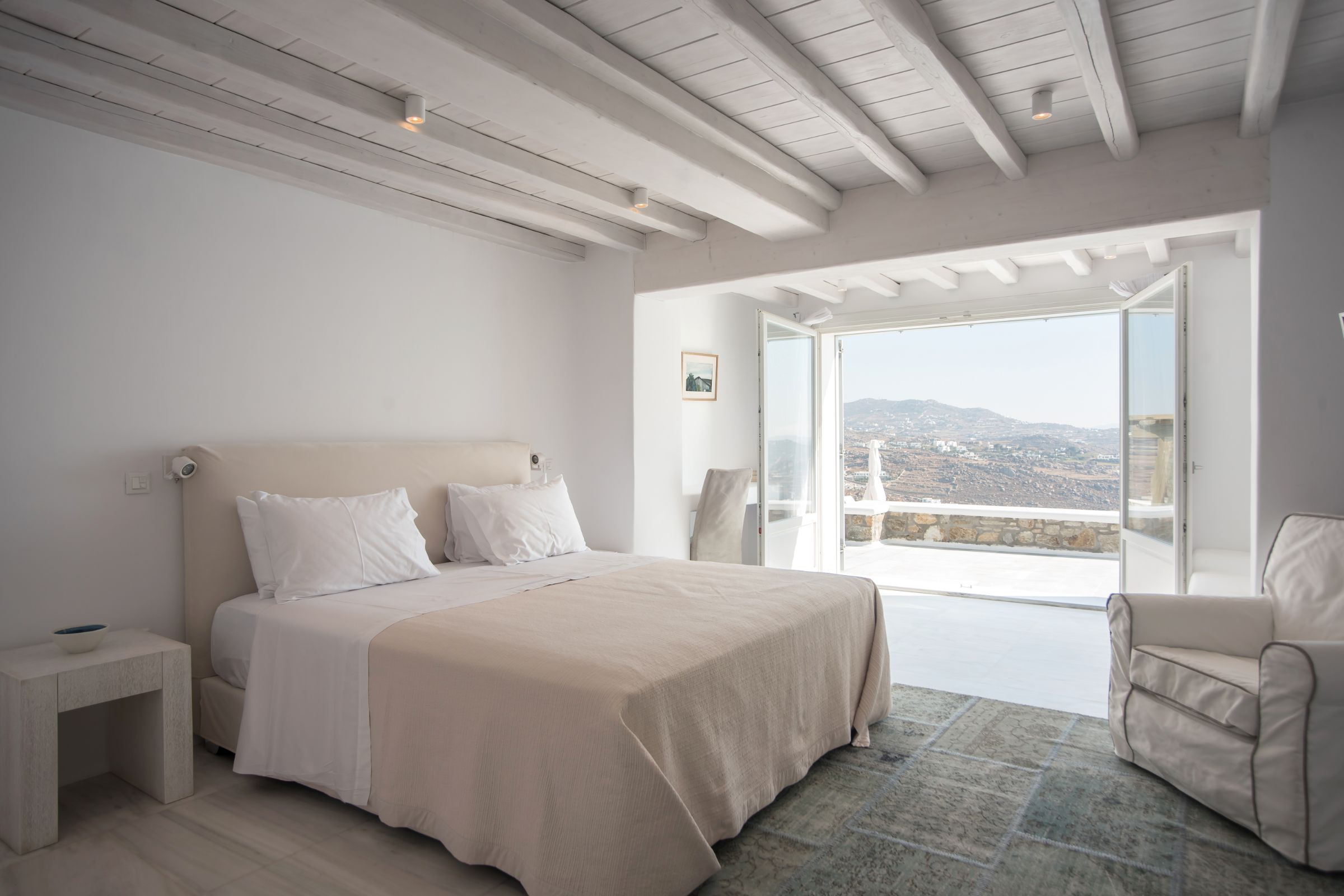 mykonos villas bedroom