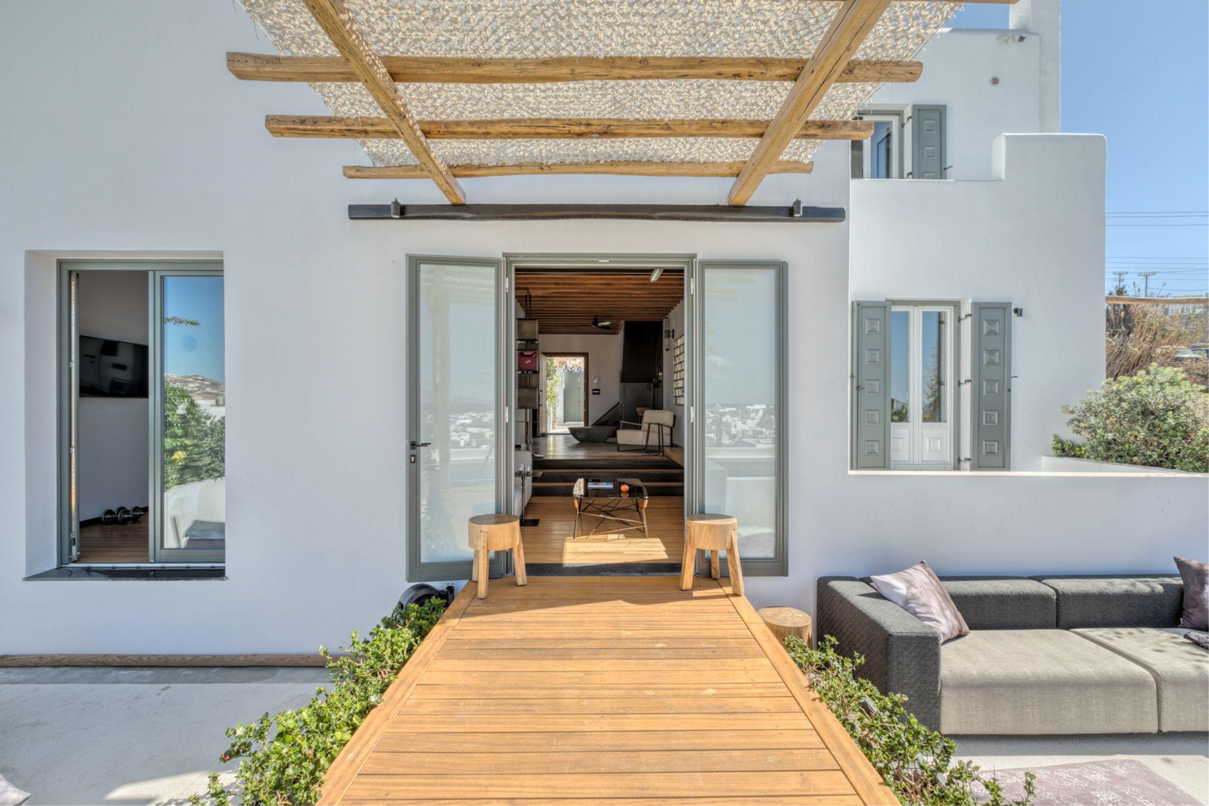 chora villa mykonos entrance