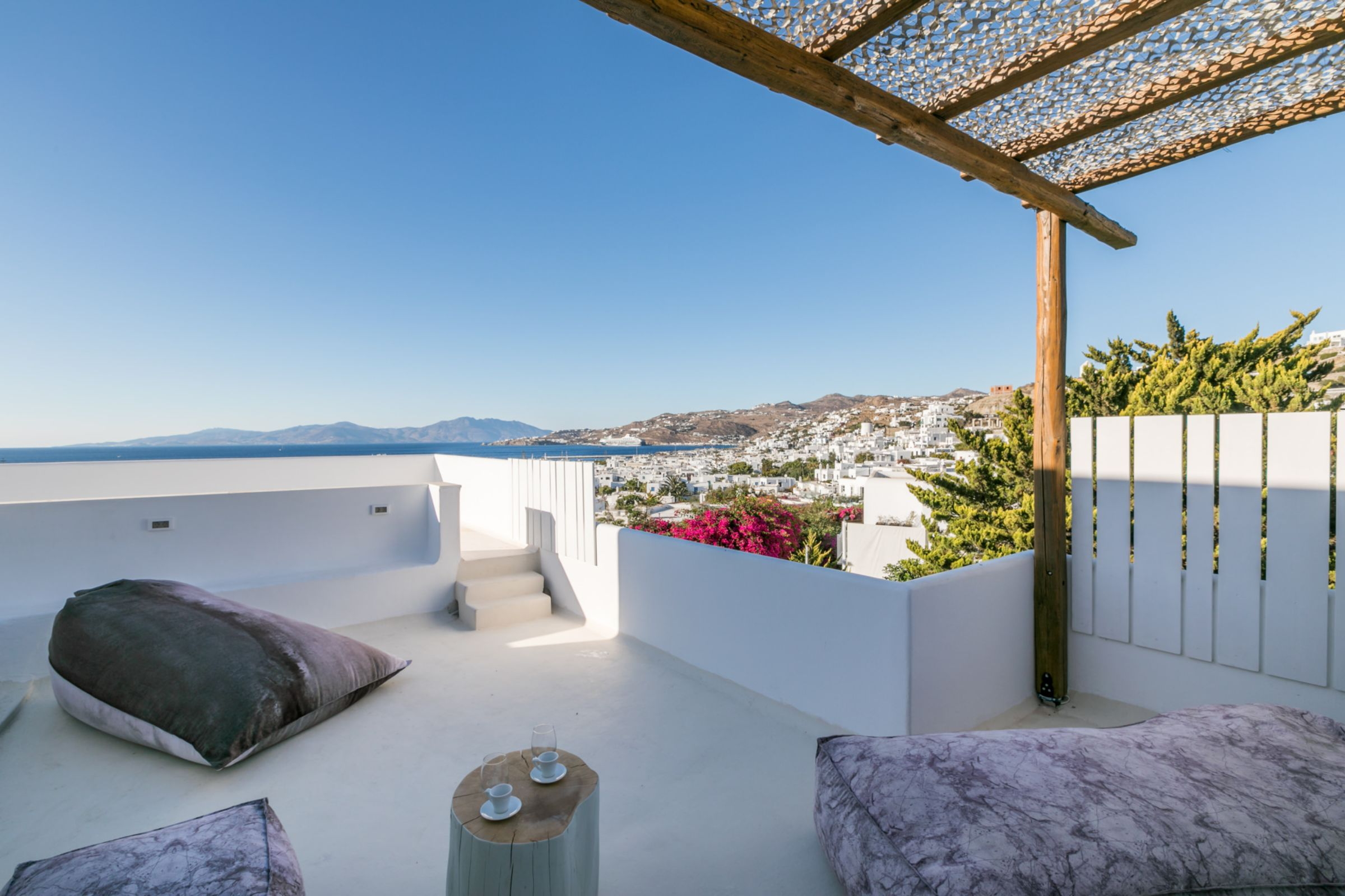 chora villa mykonos balcony