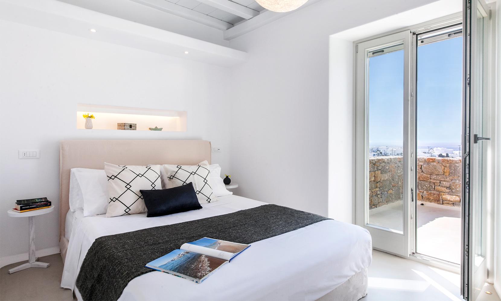 villa gialos mykonos bedroom