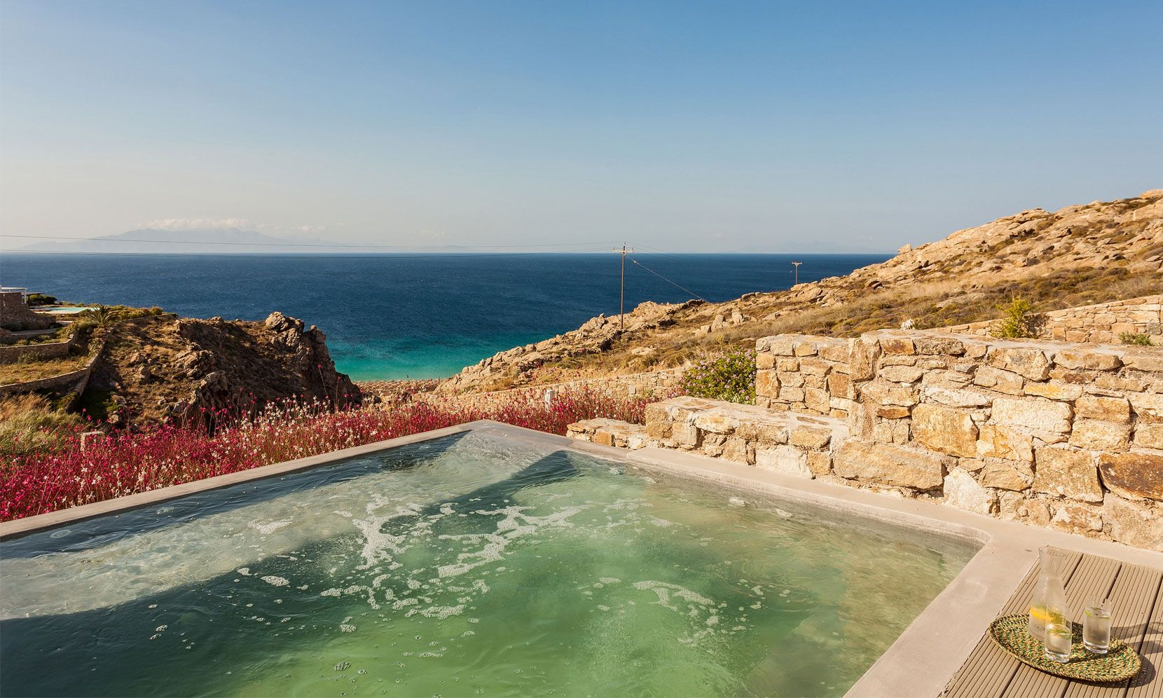 elia beach luxury villa jacuzzi