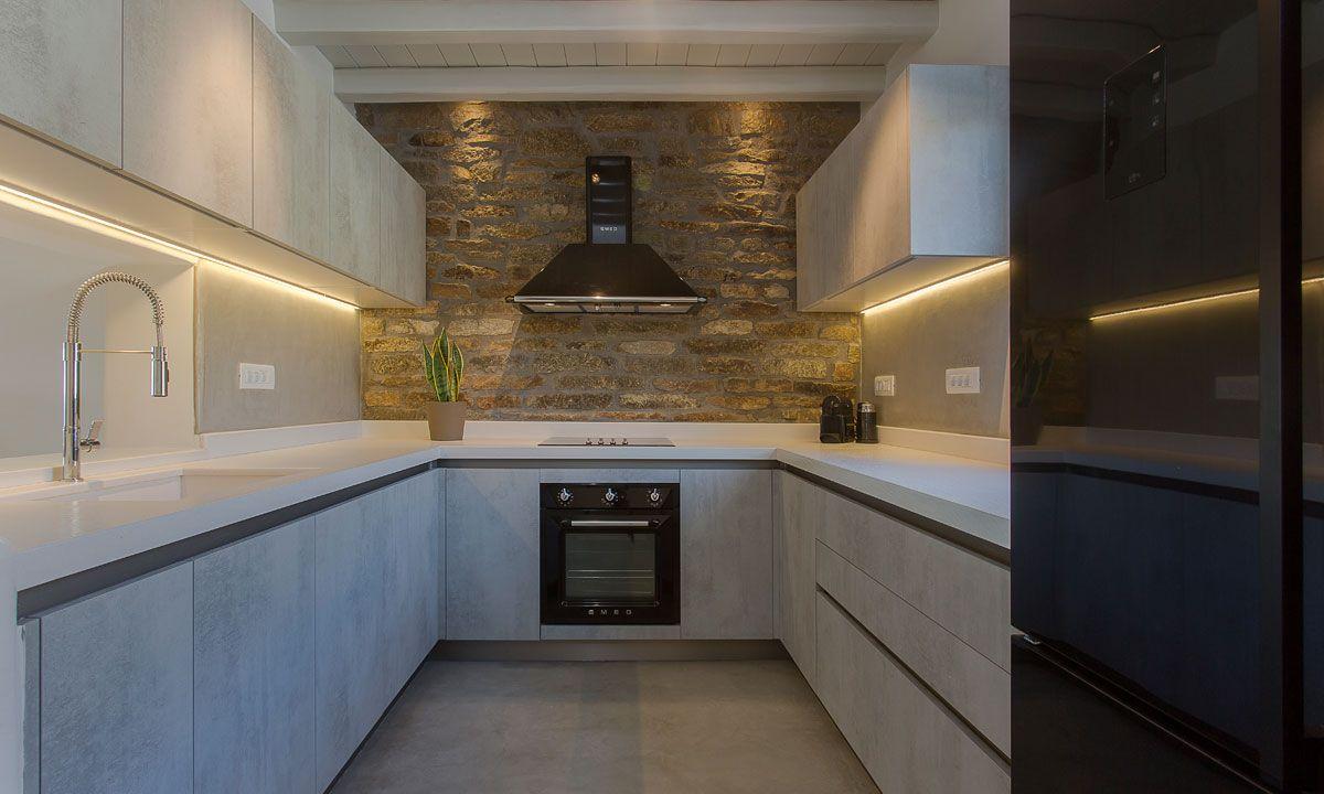 kitchen villa alina elia beach
