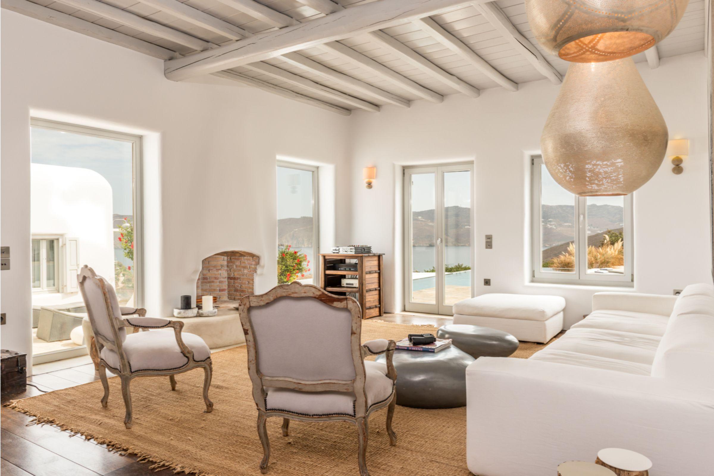 villa alva panormos bay lounge