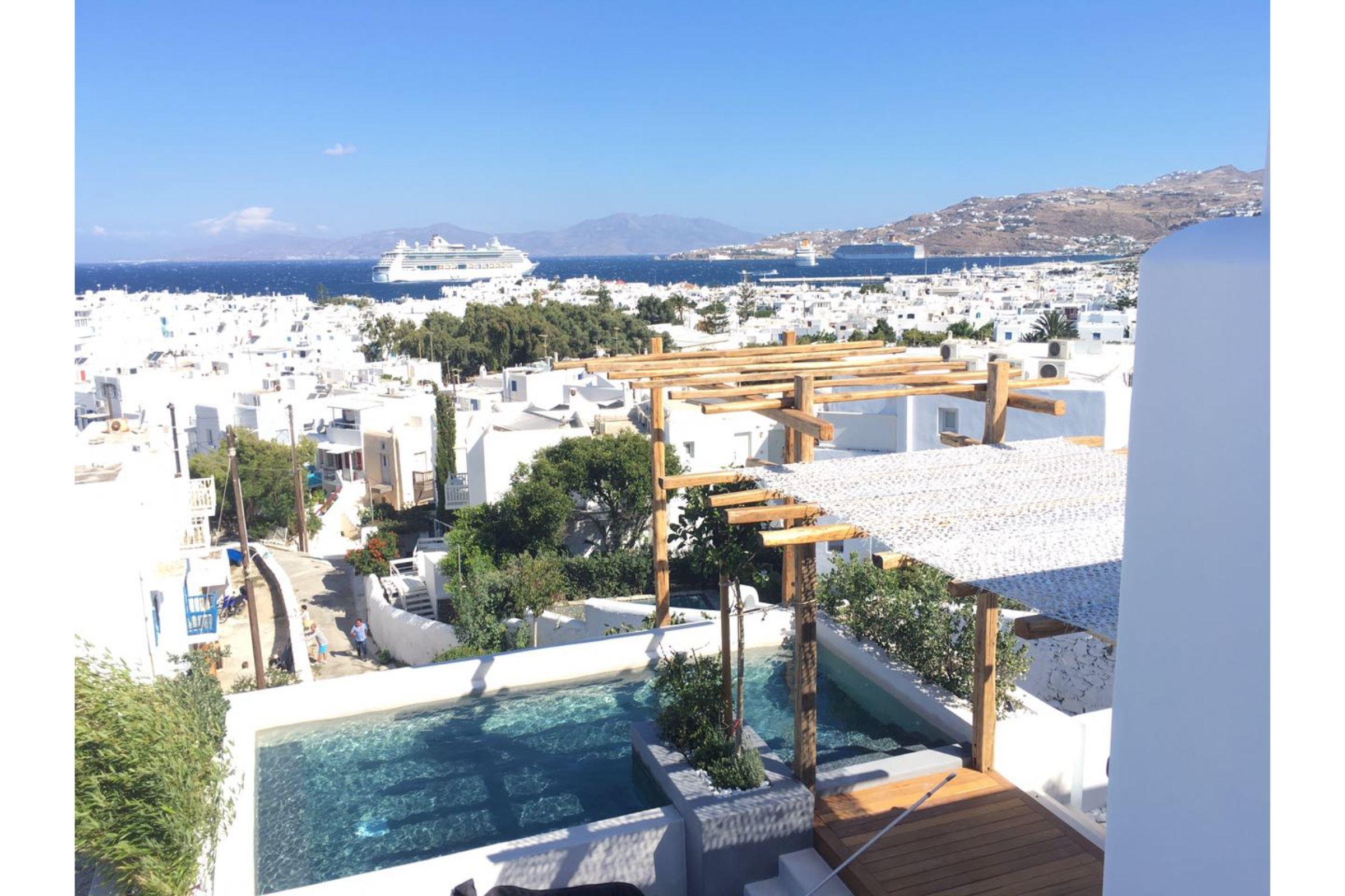 chora villa mykonos view sea