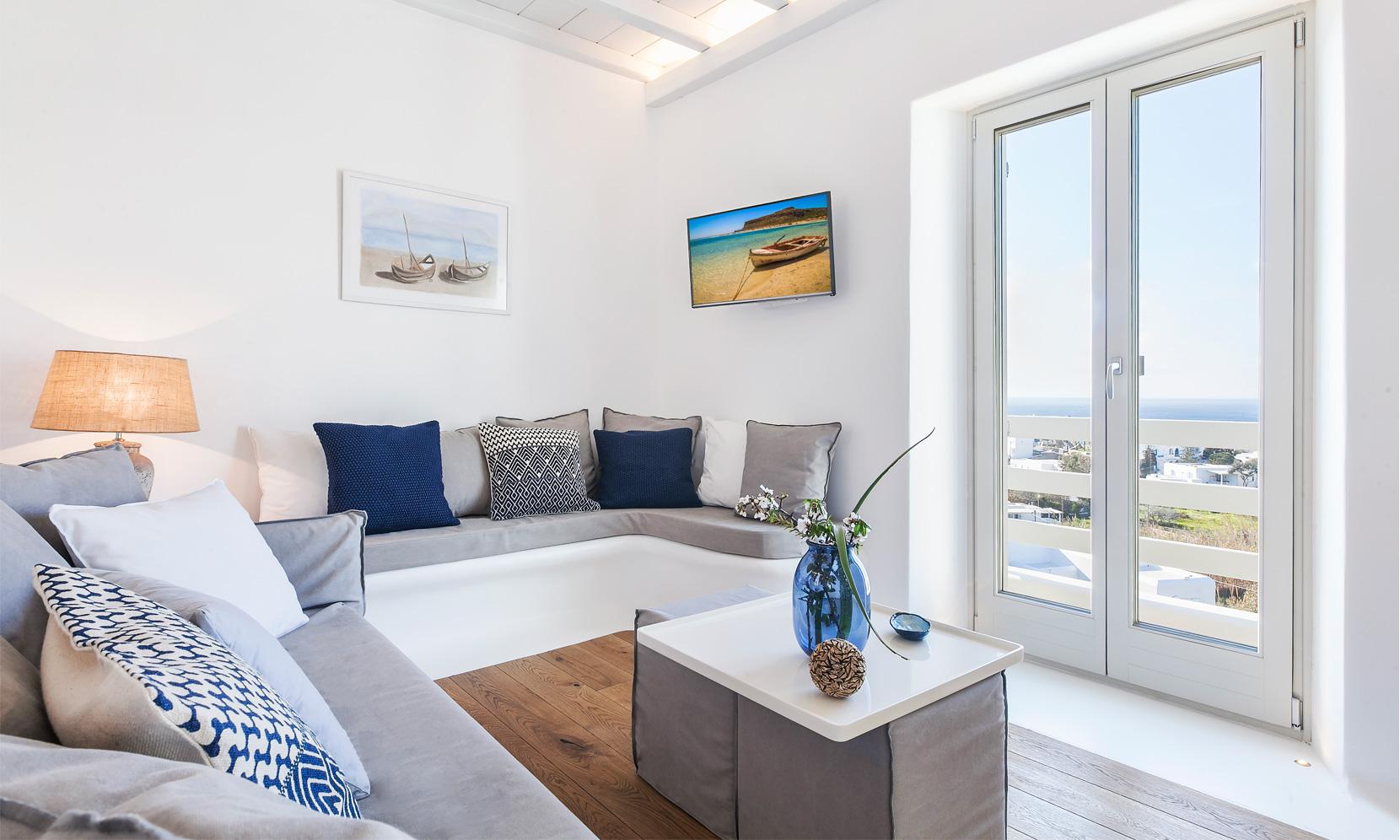 villa gialos mykonos lounge