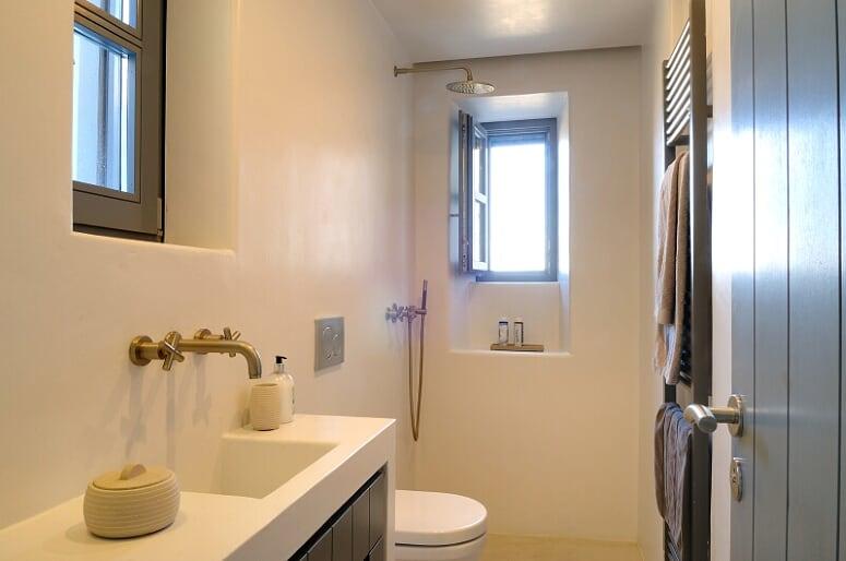 mykonos luxury villas private pool shower