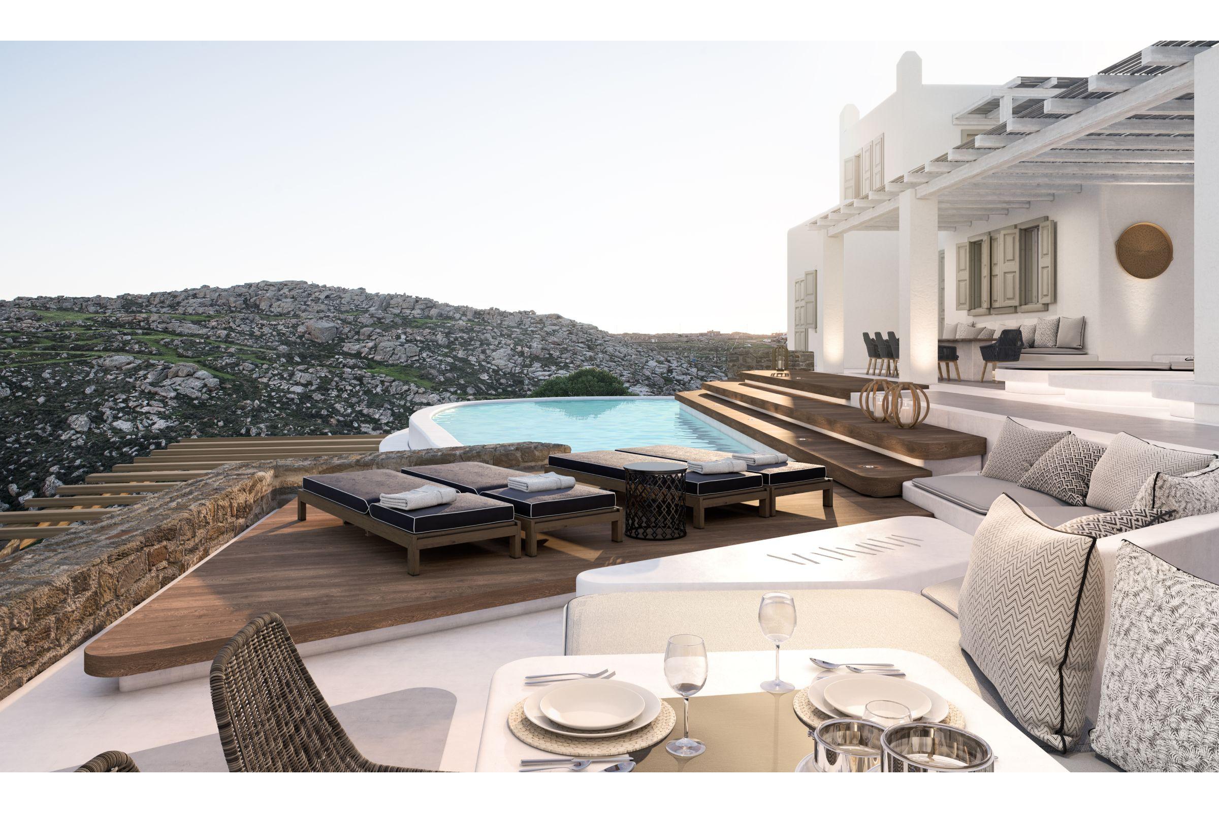 villa agrari rocks pool