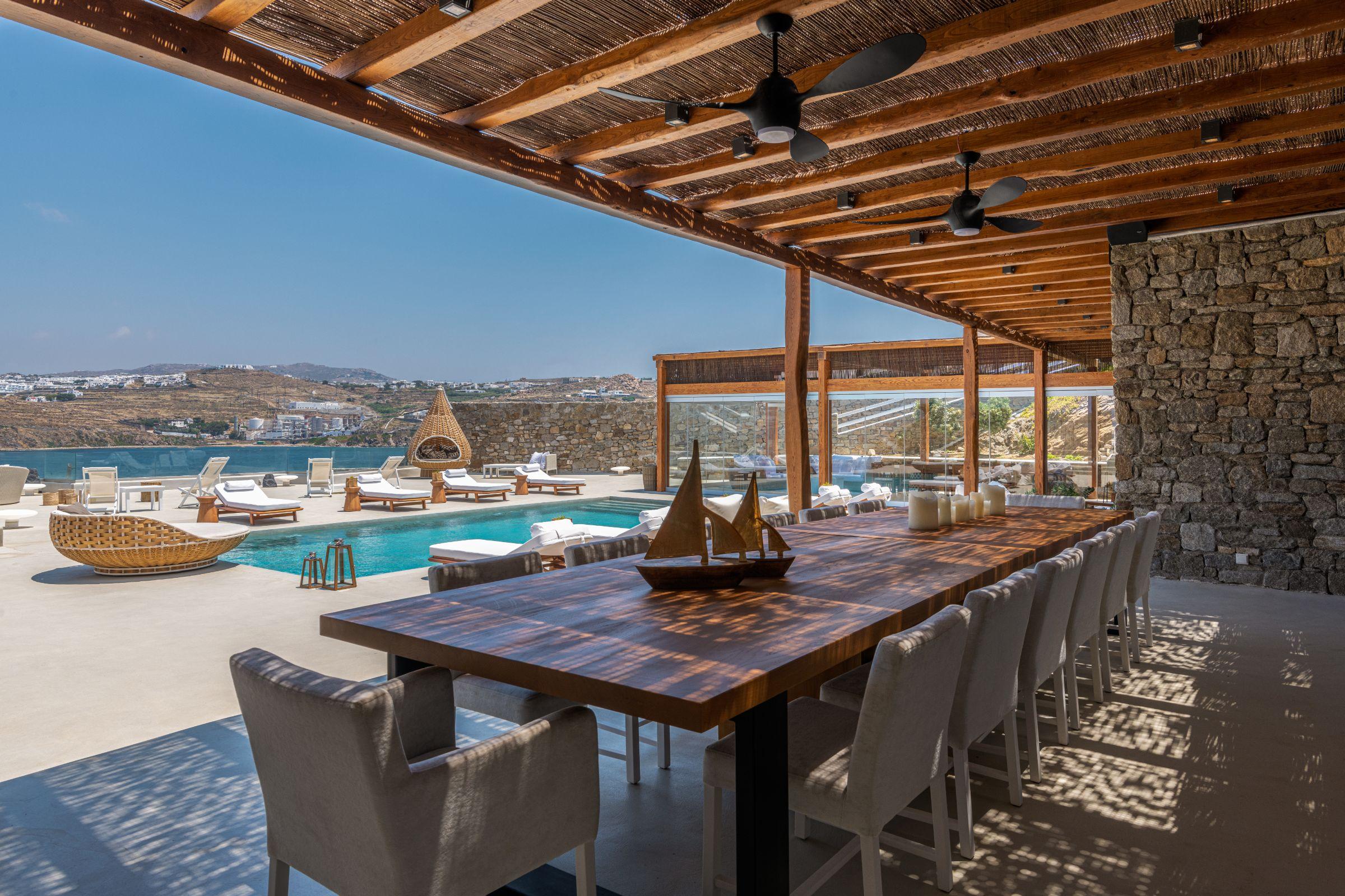 villa kastro l kanalia dining