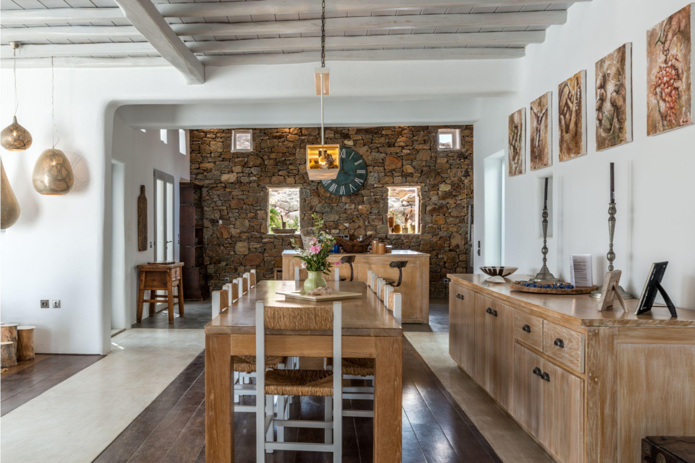 villa alva panormos bay dining