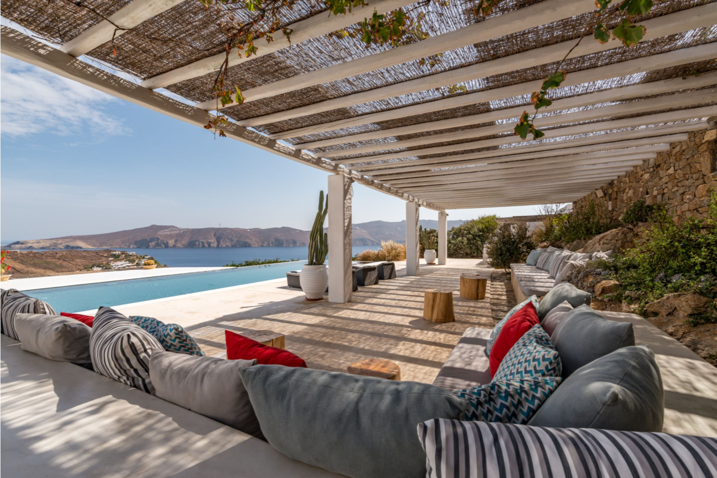 villa alva panormos bay views