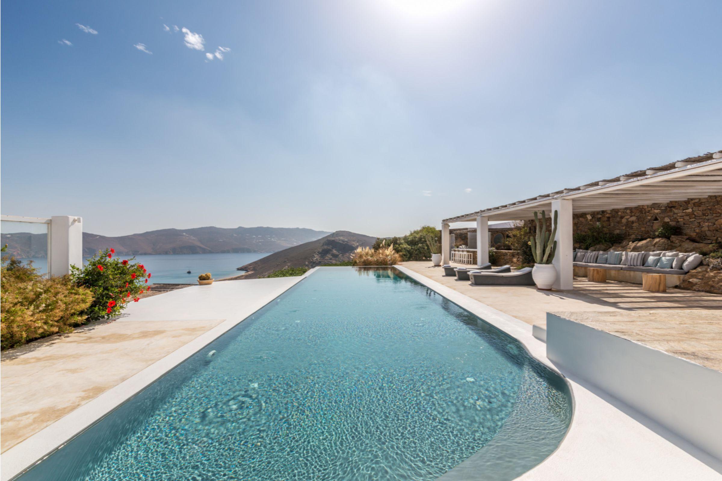 villa alva panormos bay pool