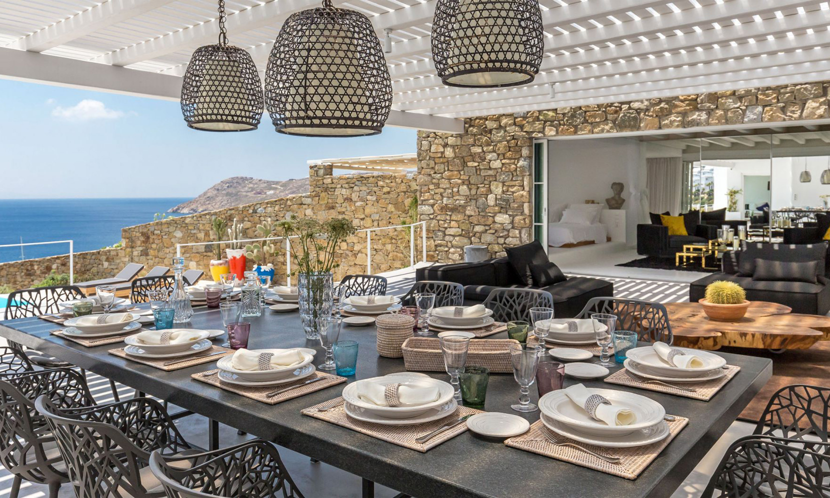 dining villa elia sea breeze