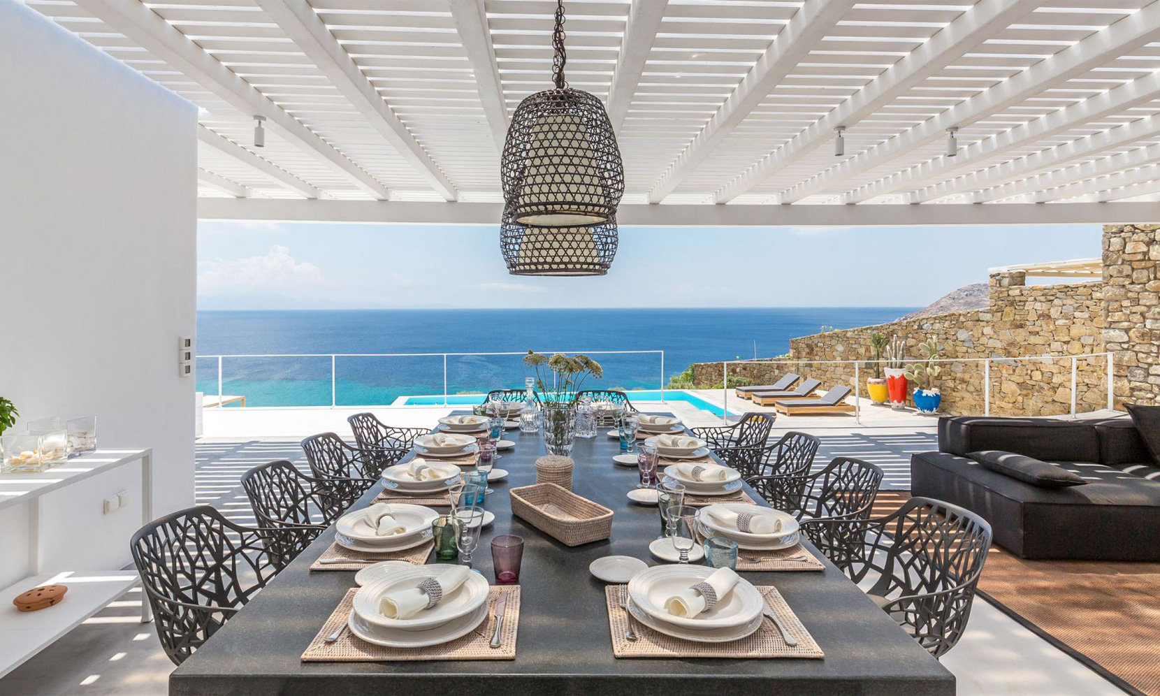 villa elia sea breeze dining