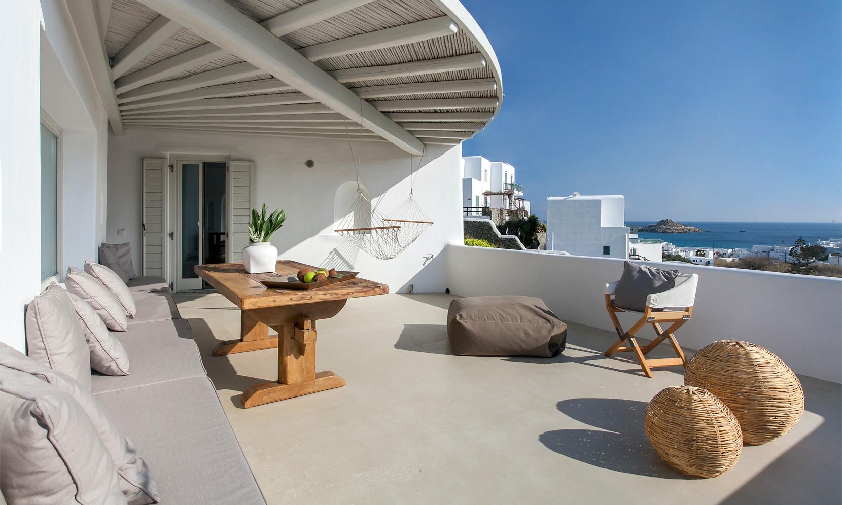 villa gialos mykonos balcony