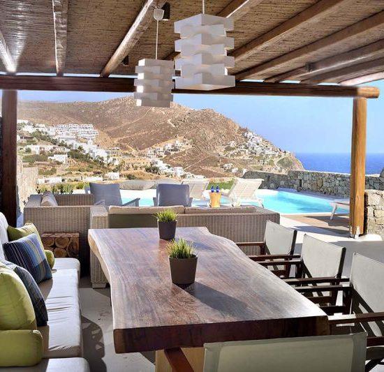 villa kiki elia beach views