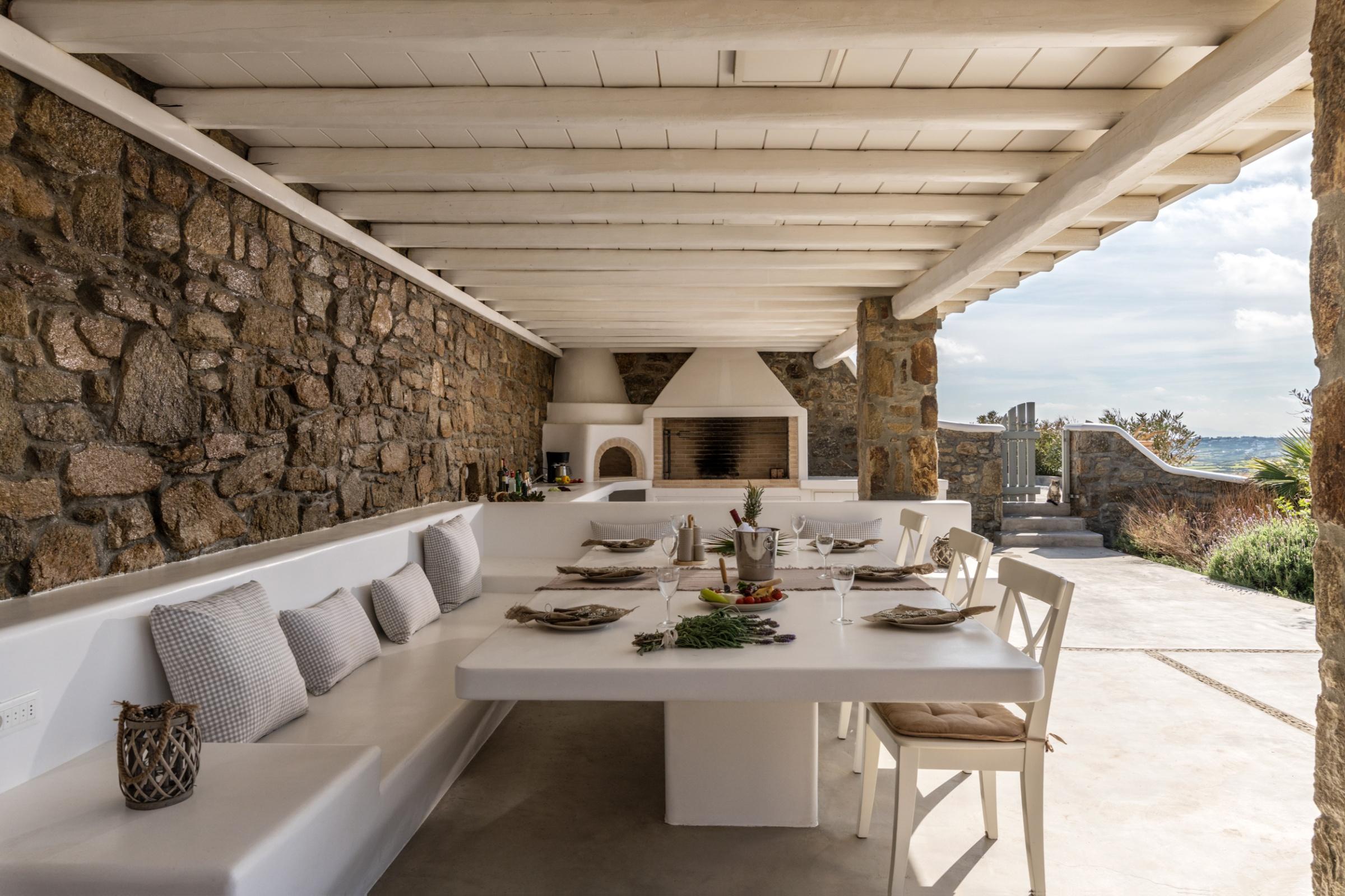 dining alfesco mykonos villas