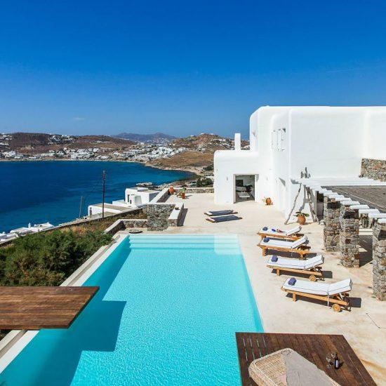 sea view mykonos villas