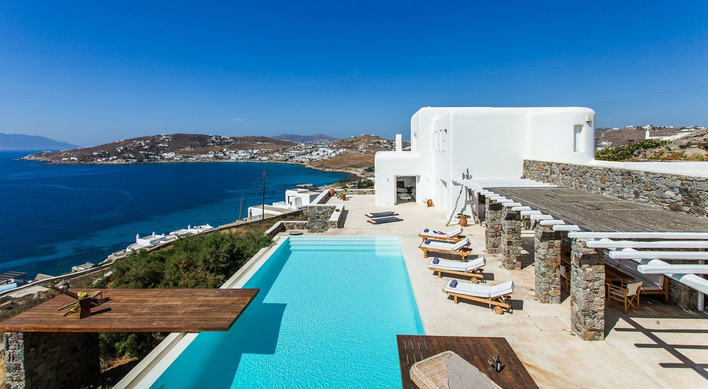 sea view mykonos villas
