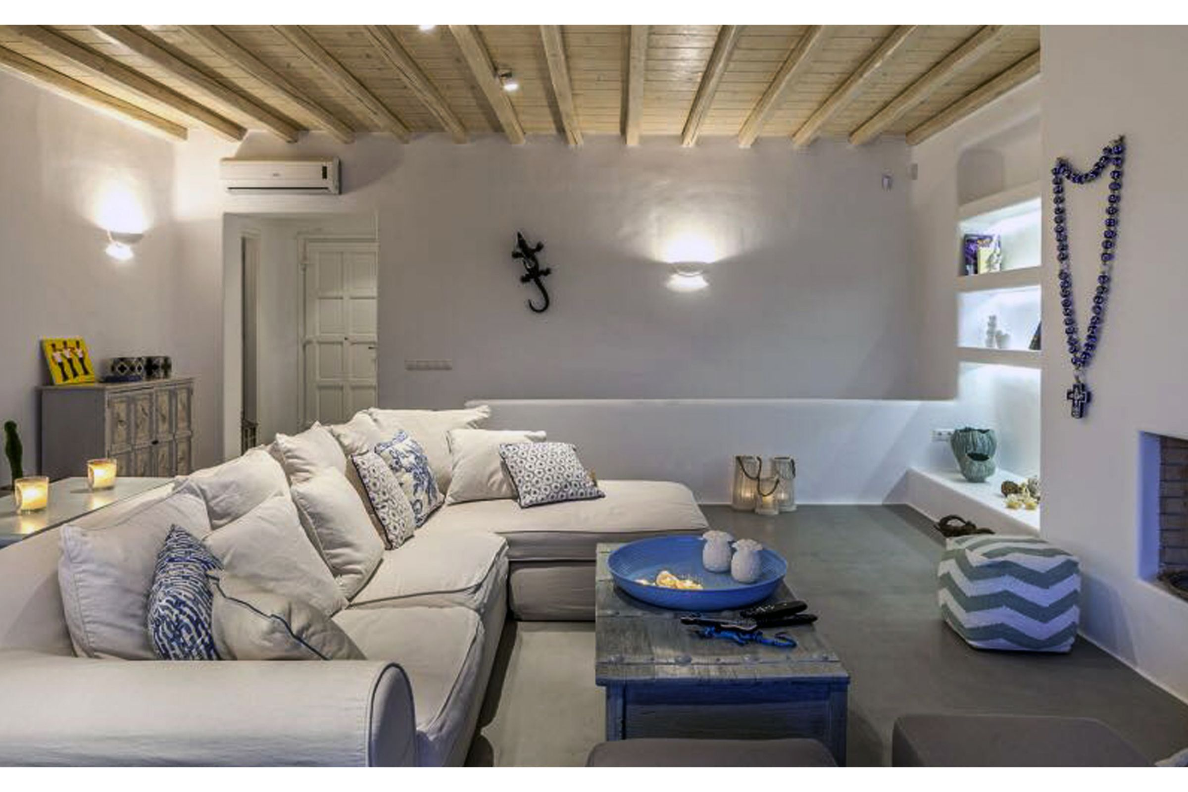 villa summer blue mykonos lounge
