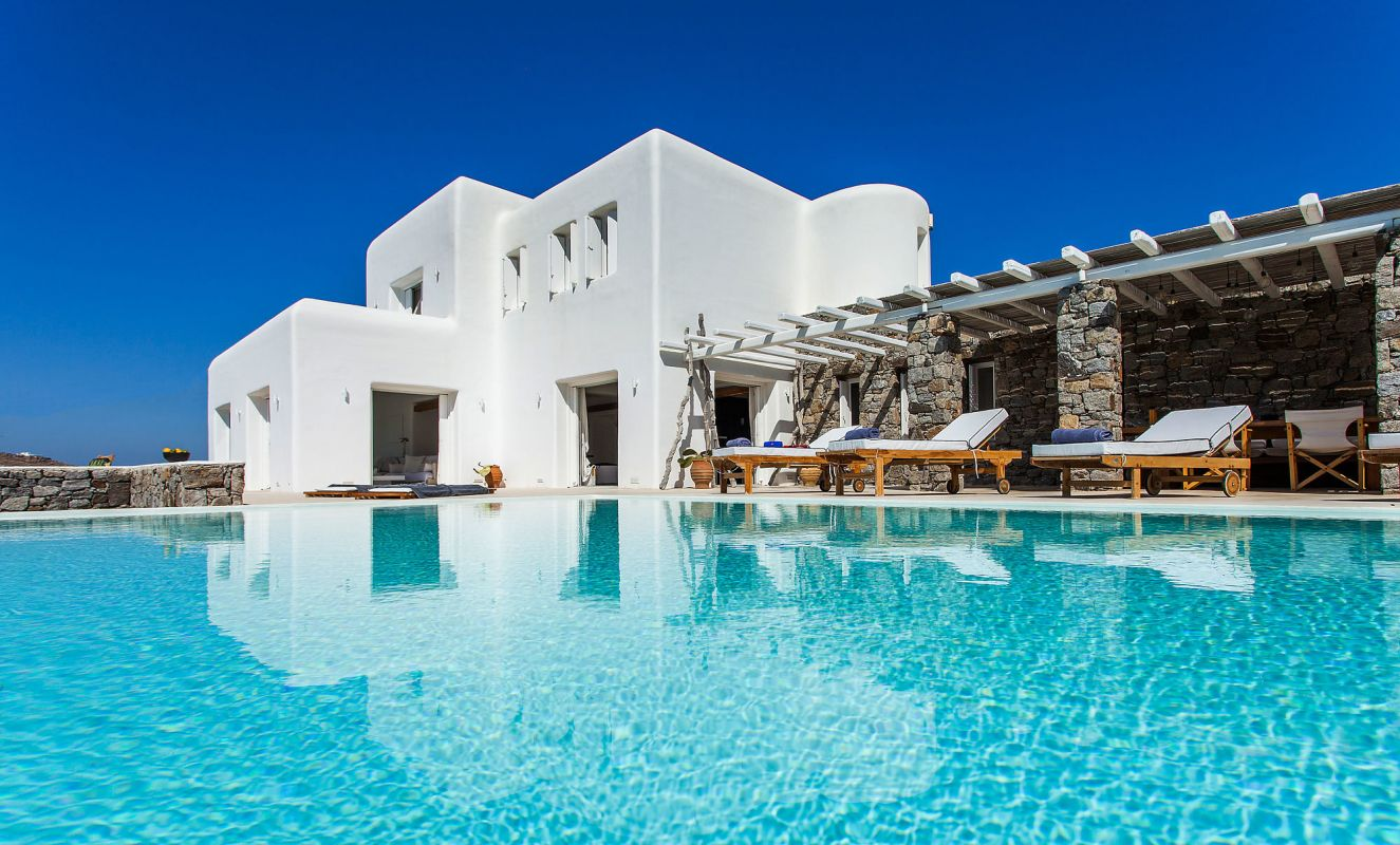 pool luxury villas mykonos