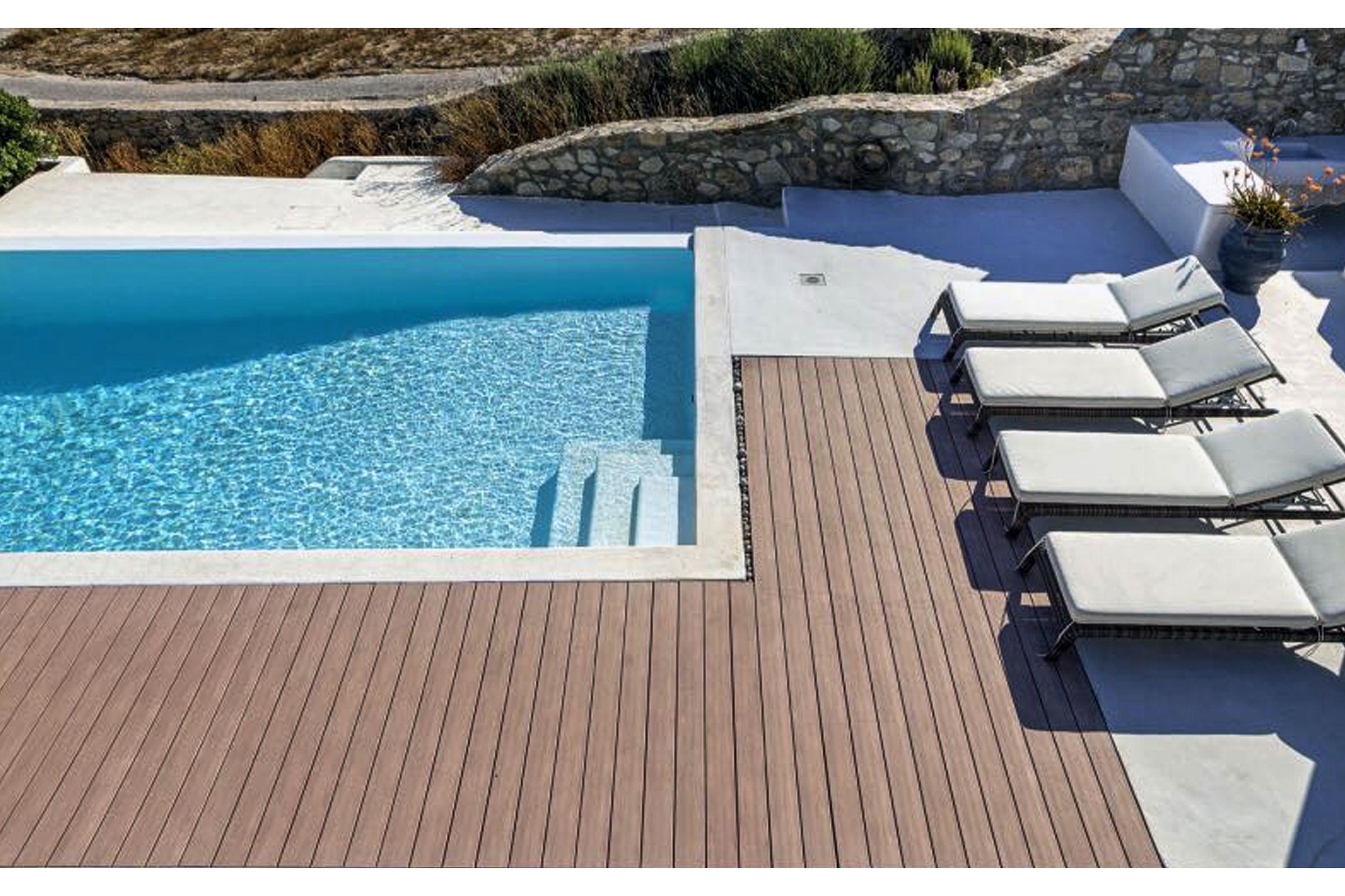 villa summer blue mykonos pool