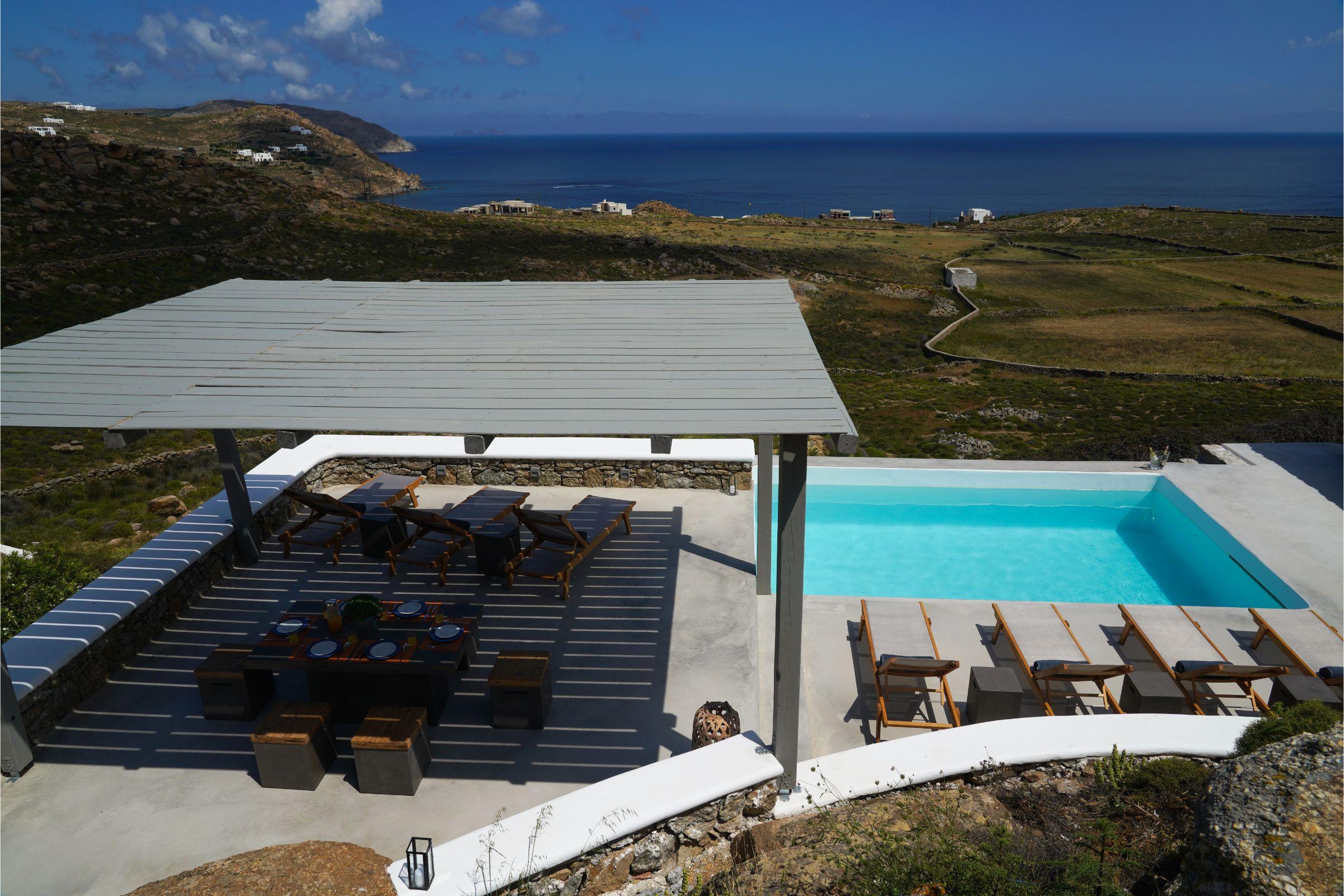 Villa Carina Pyrgi Mykonos pool