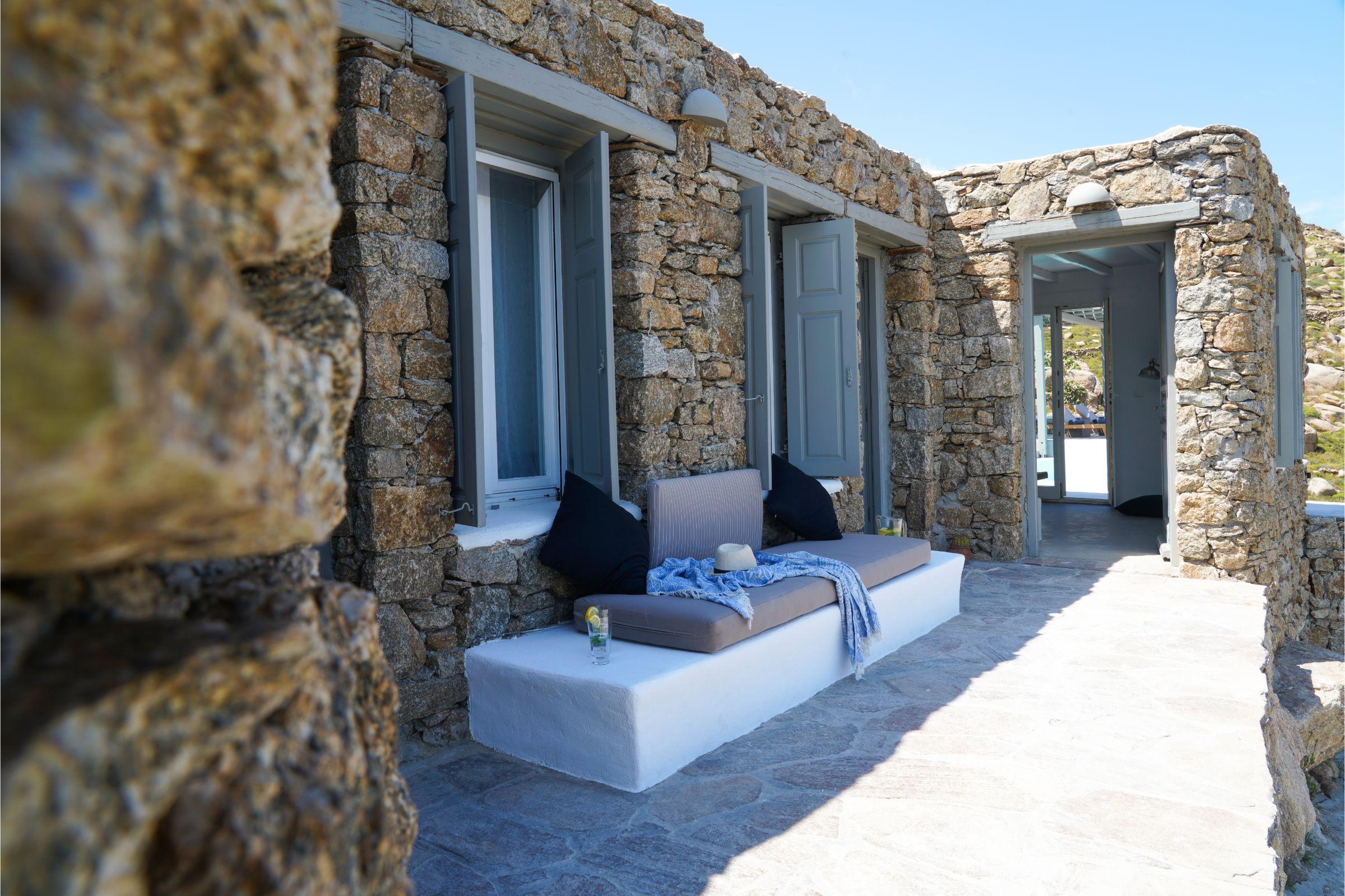 Villa Carina Pyrgi Mykonos terrace