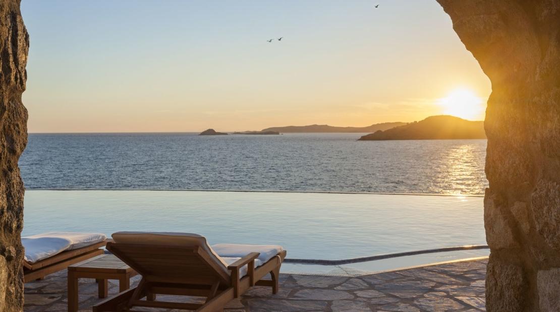 Villa aqua azul Agios Lazaros sunset