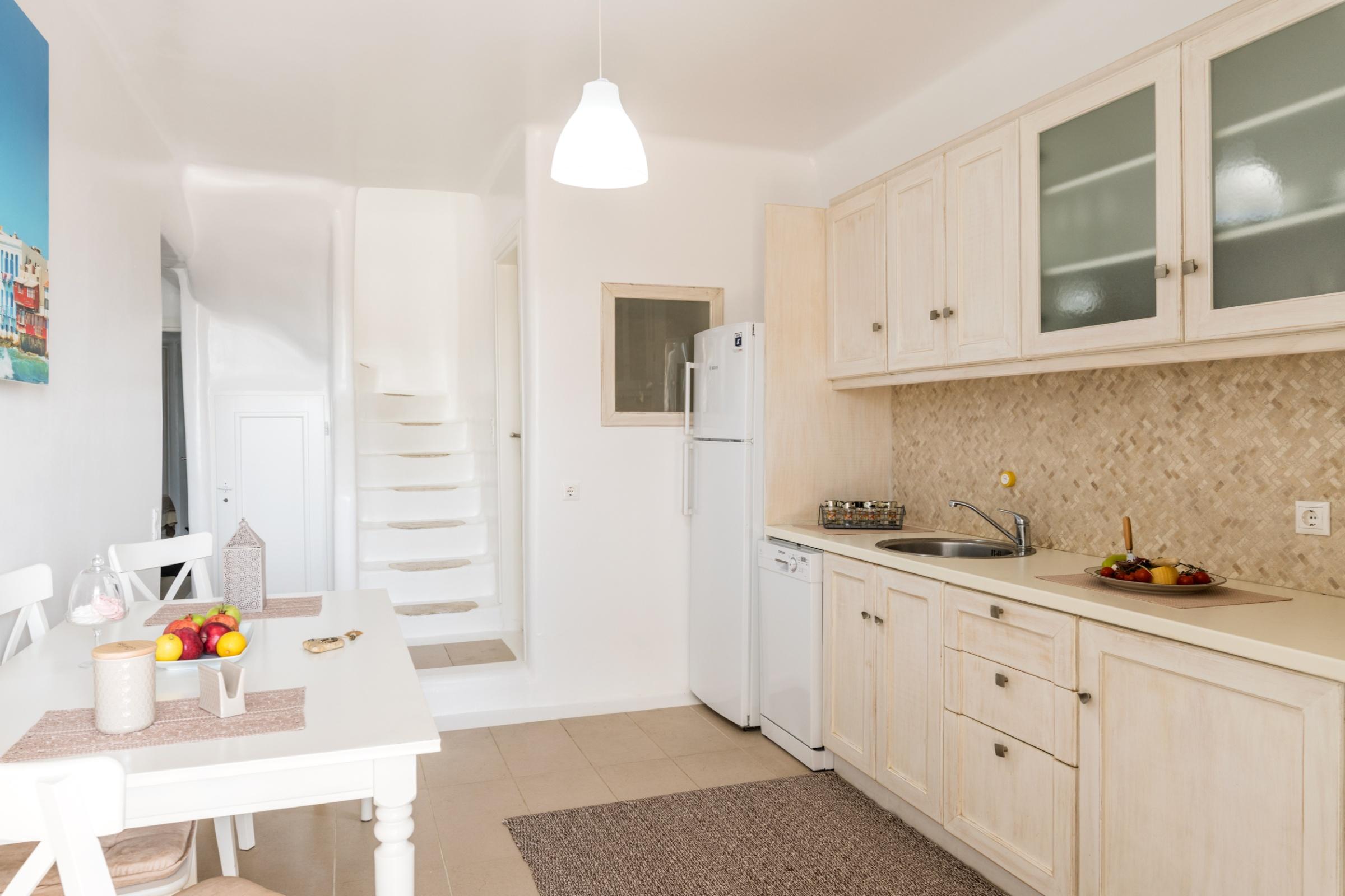 villa cecilia mykonos kitchen