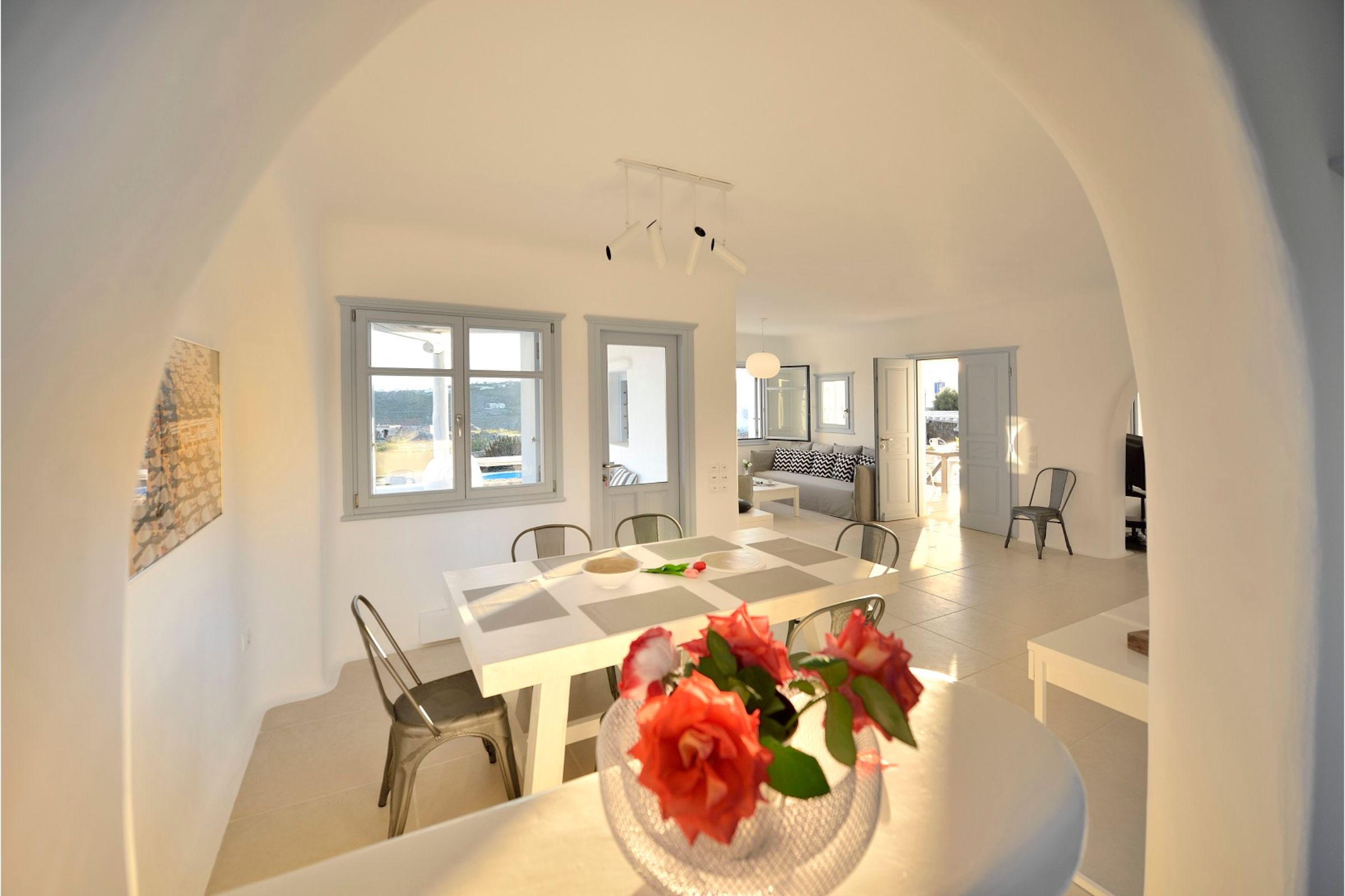 villa mykonian bianca dining