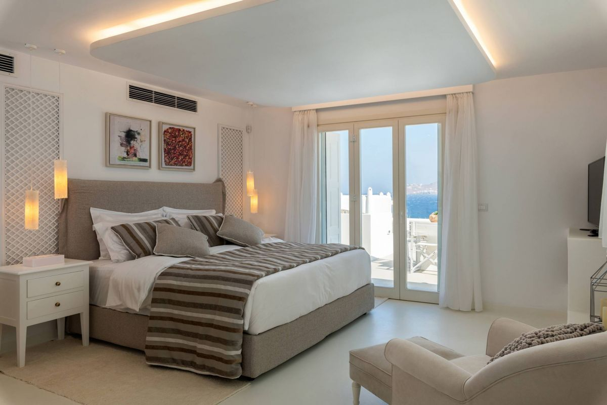 olia villas kanalia mykonos bedroom