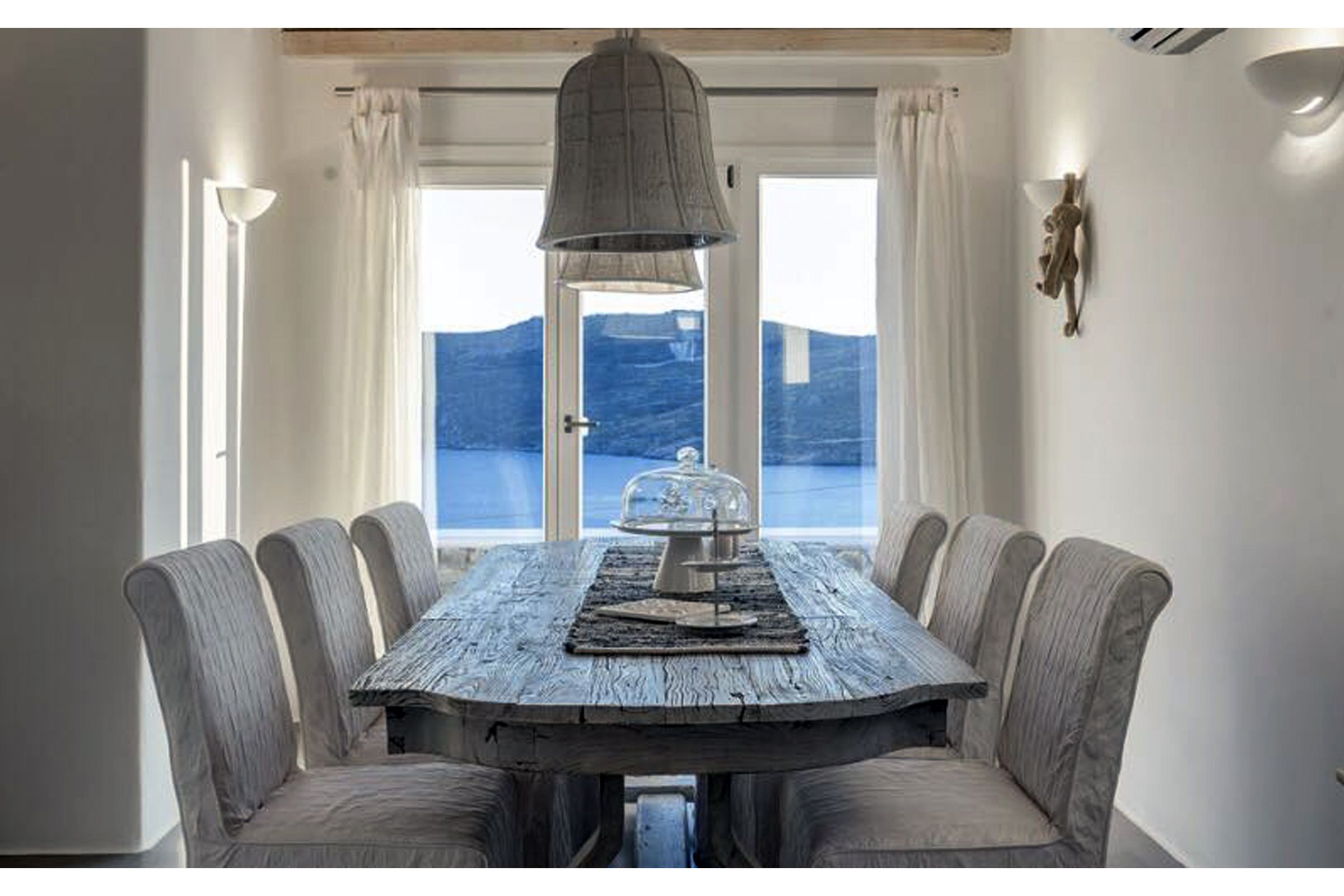 villa summer blue mykonos dining
