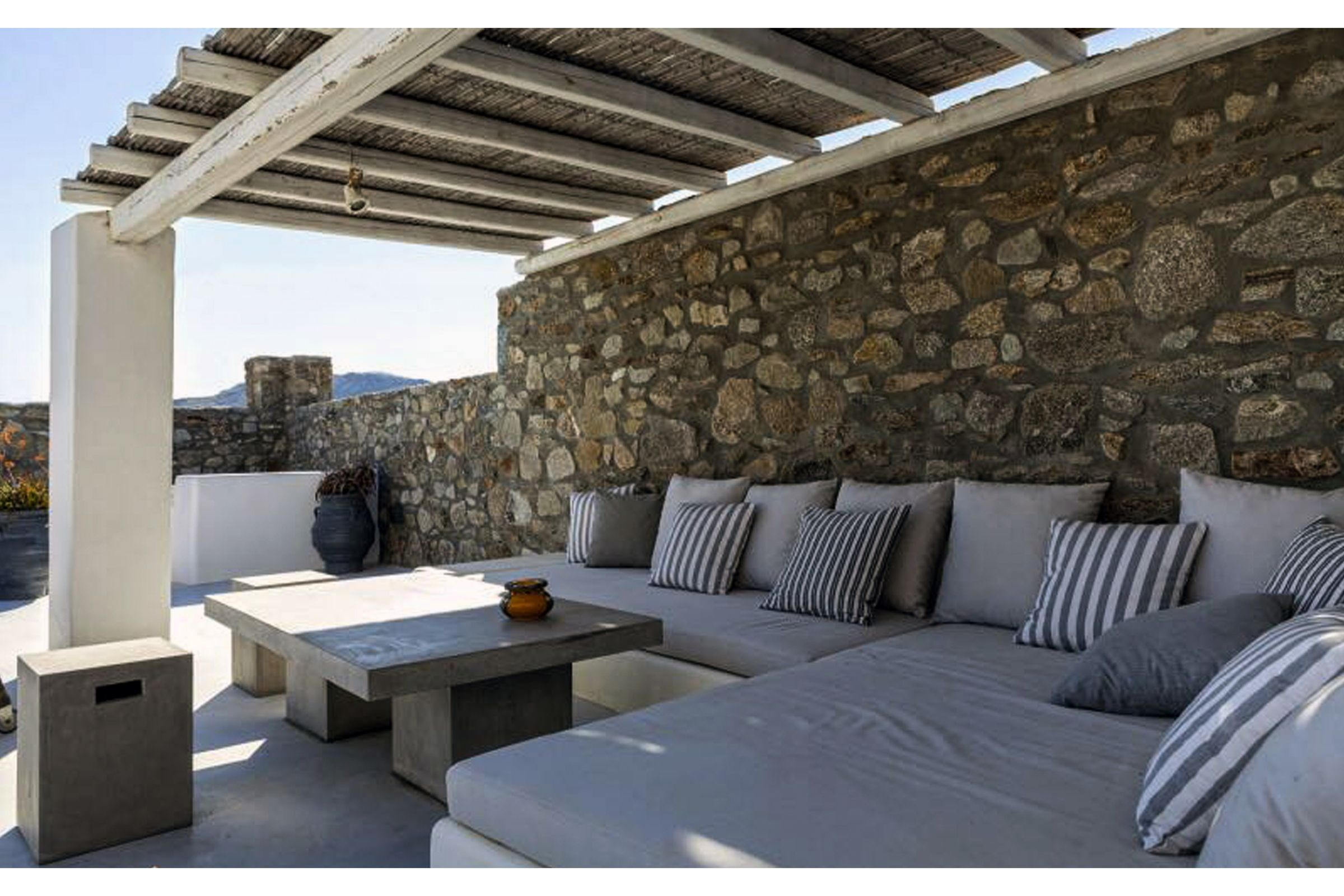 terrace villa summer blue mykonos