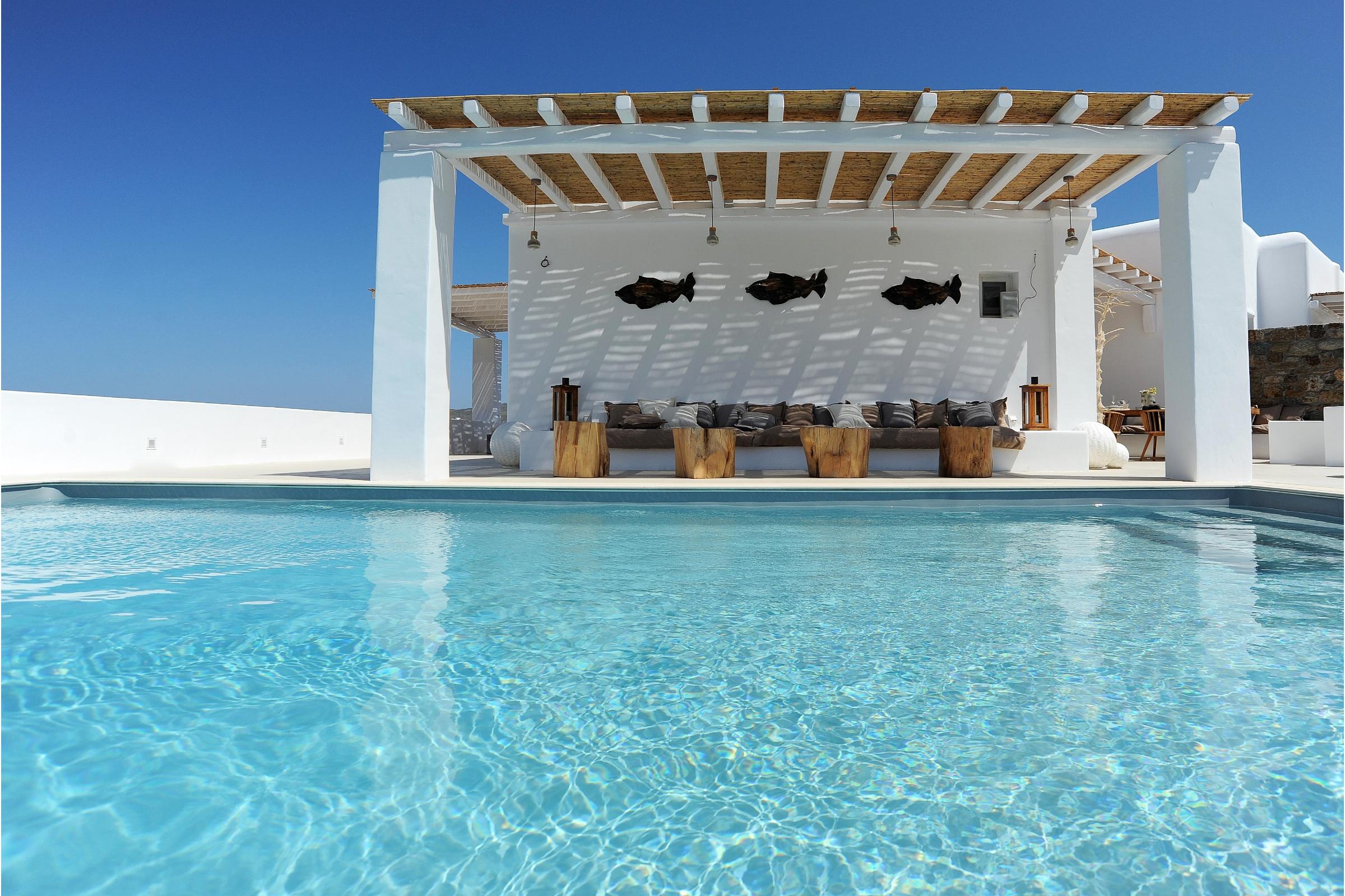 villa thetos panormos bay pool